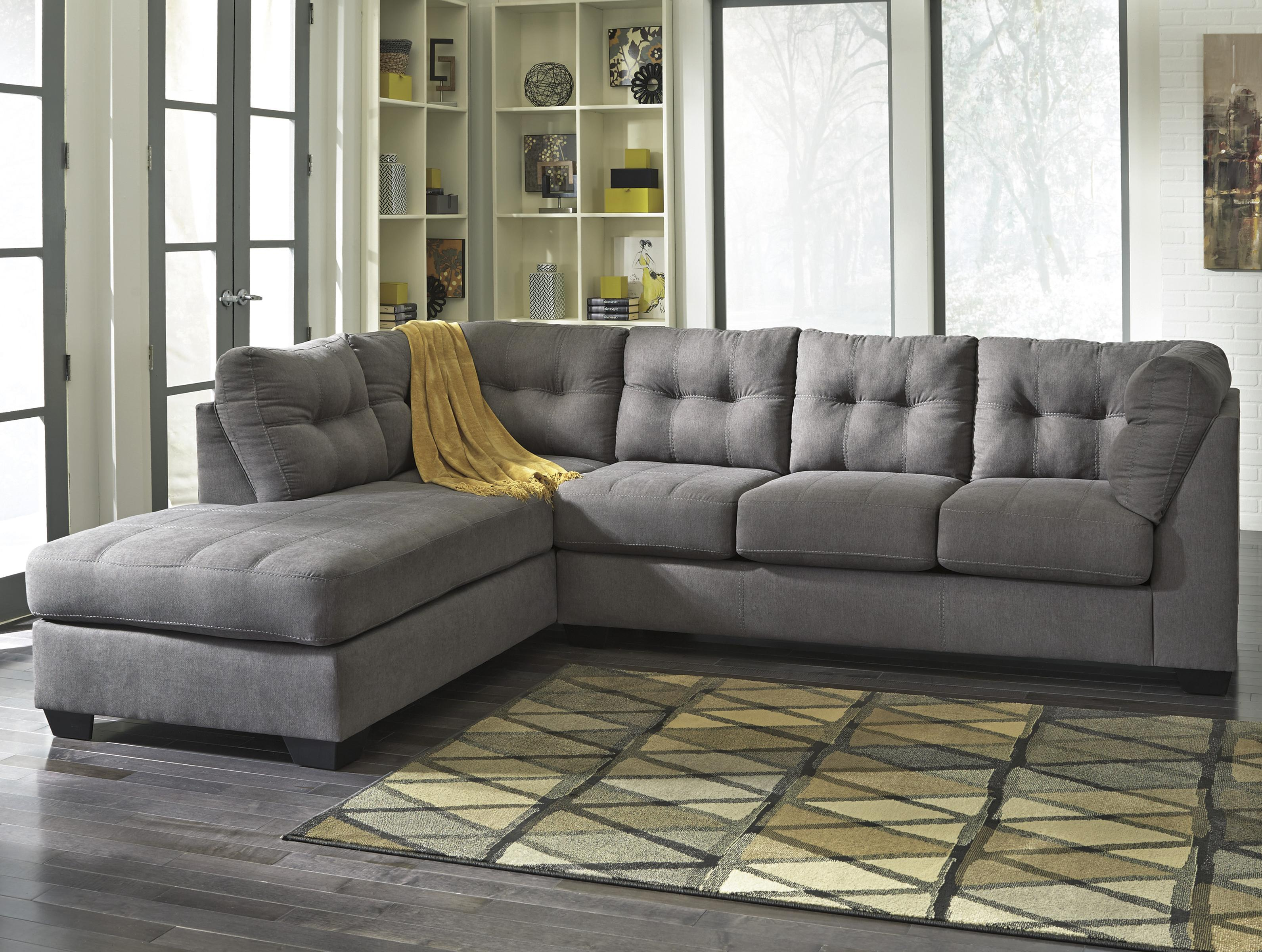 Couches Sleeper Maier Charcoal 2 Piece Sectional W Sleeper Sofa Left Chaise By Benchcraft At Sam Levitz Furniture