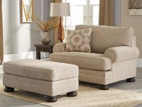 Benchcraft Quarry Hill Chair and a Half & Ottoman ...