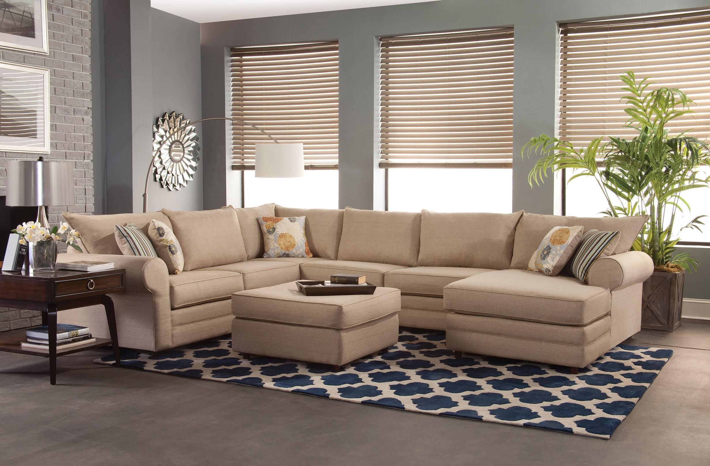 Best Furniture Stores In Northern Va Monticello Casual Sectional Sofa With Chaise By Belfort Essentials At Belfort Furniture