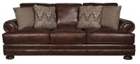 Bernhardt Foster Classic 100% Leather Sofa with Nailhead ...