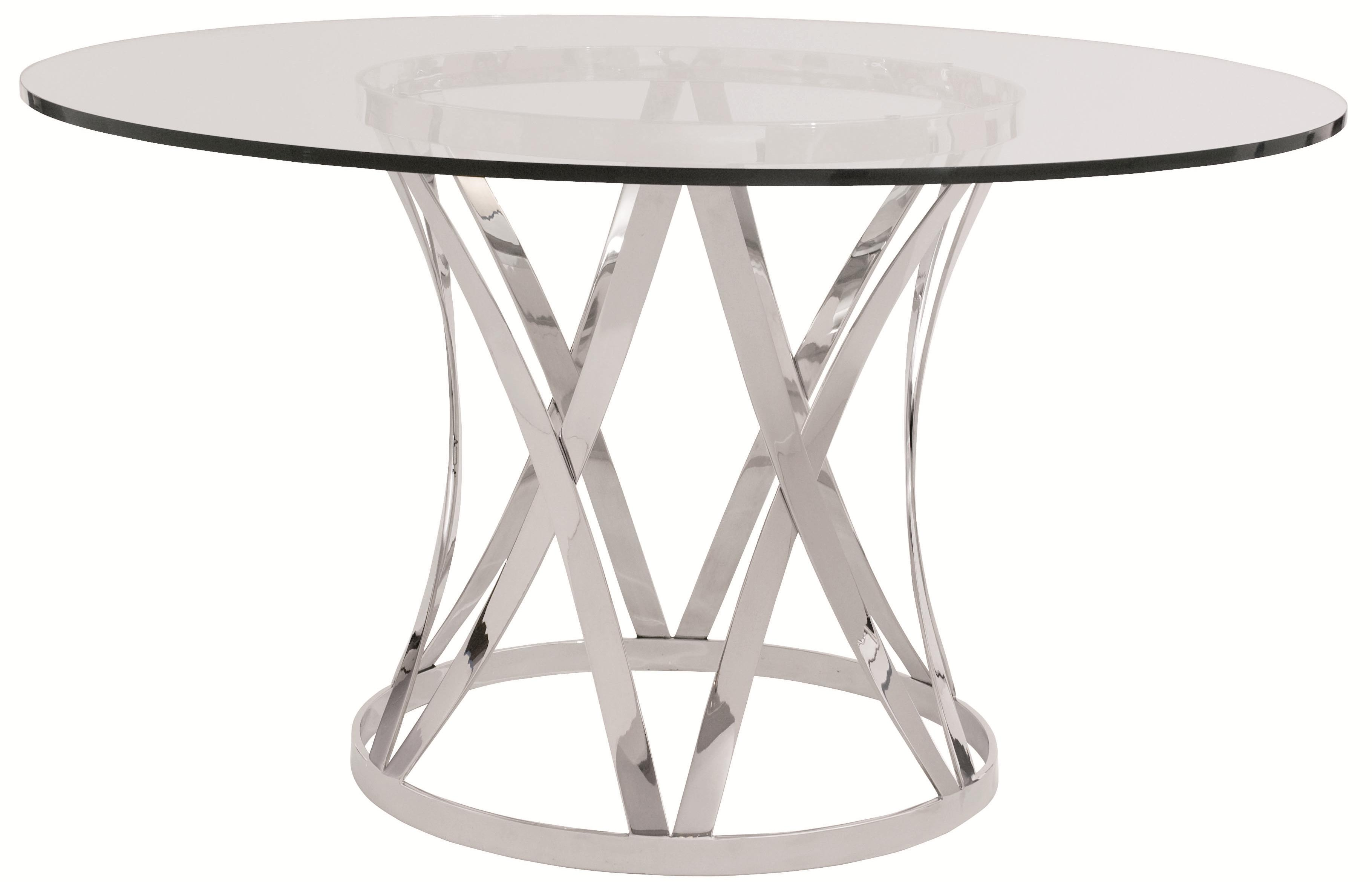 Round Glass Top Dining Table Bernhardt Interiors Gustav Round Glass Top Dining Table With