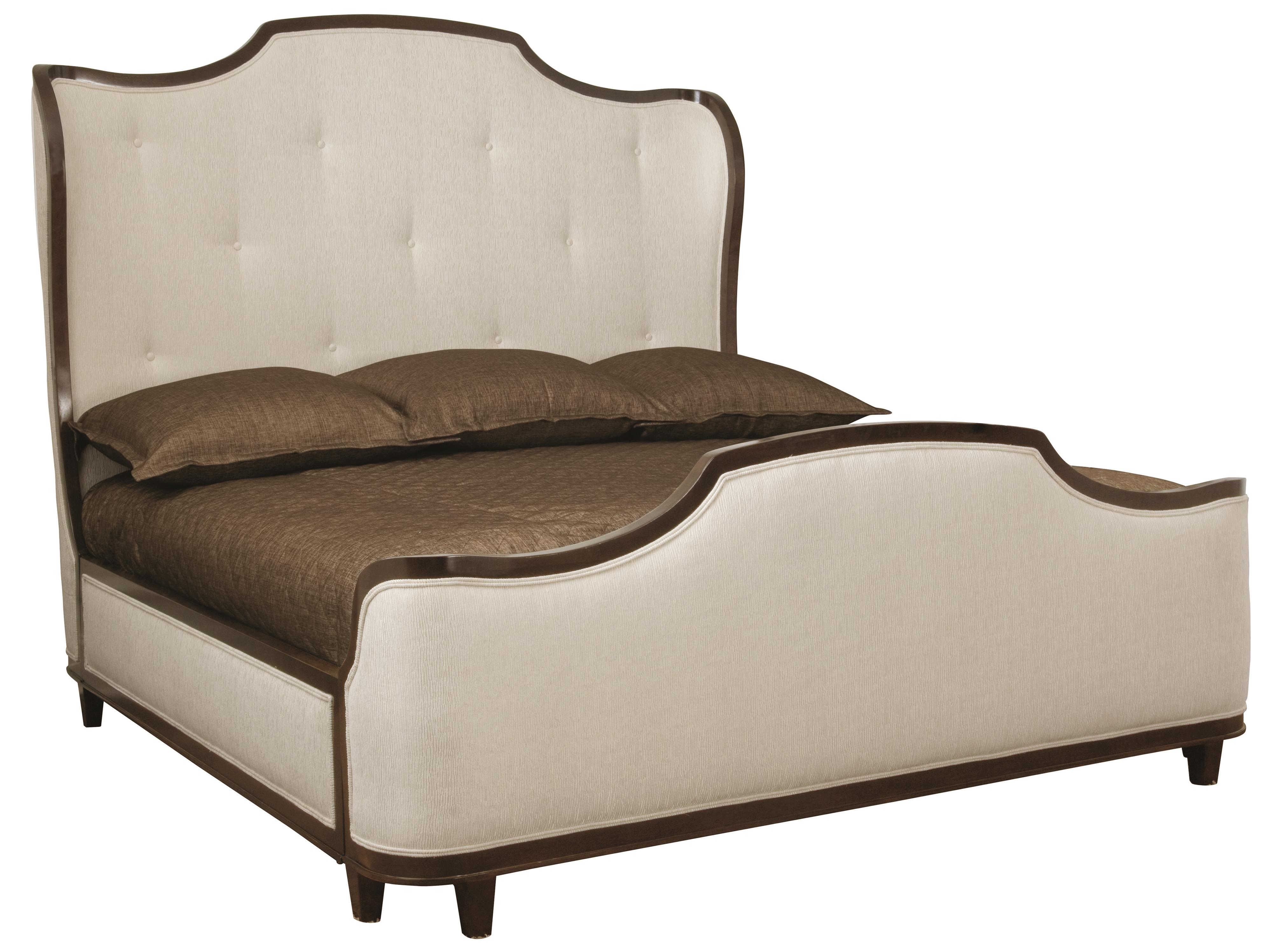 Sleigh Bed Headboard Miramont King Upholstered Sleigh Bed With Button Tufted Headboard By Bernhardt At Sprintz Furniture