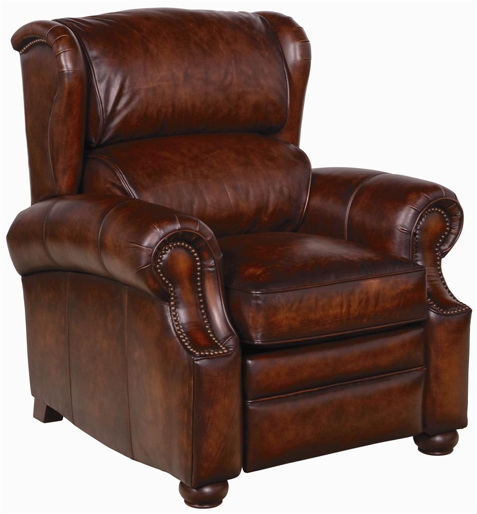 Bernhardt upholstered accents warner leather recliner