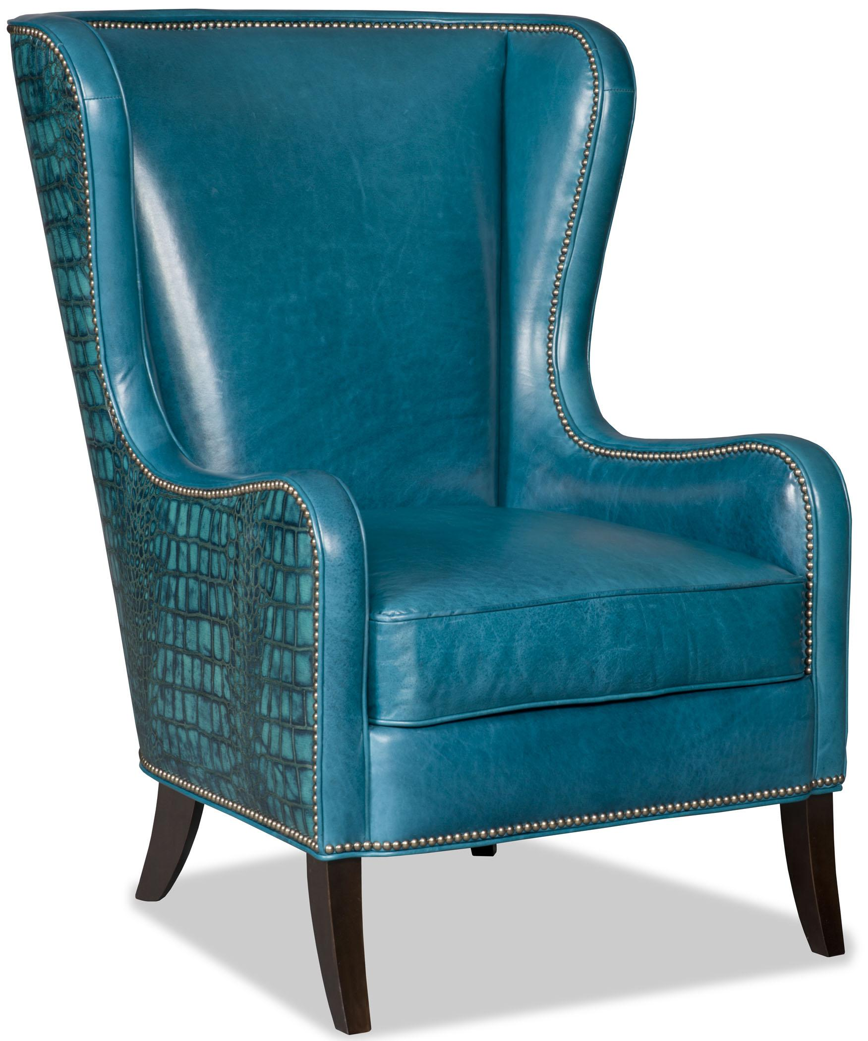 Bradington Young Club Chairs Aurora Chair With Flared Wing Back And Nailhead Trim Sprintz Furniture Wing Chairs