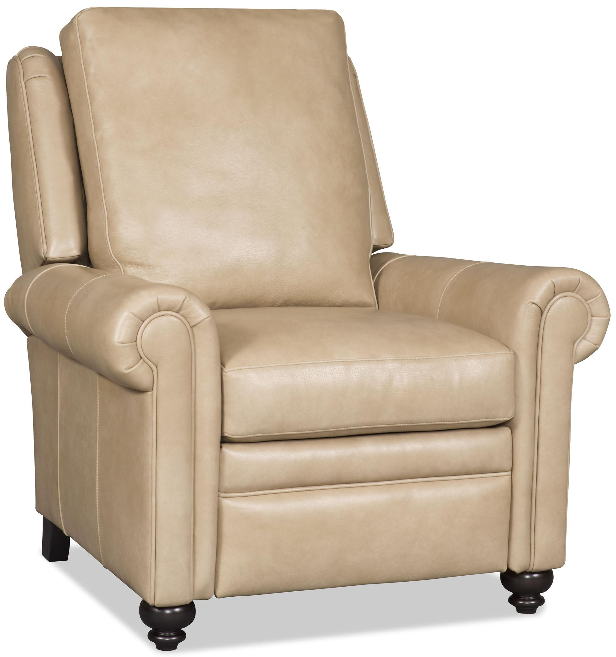 Bradington Young Daire 3172 Customizable High Leg Recliner With Rolled Panel Arms Thornton Furniture High Leg Recliner