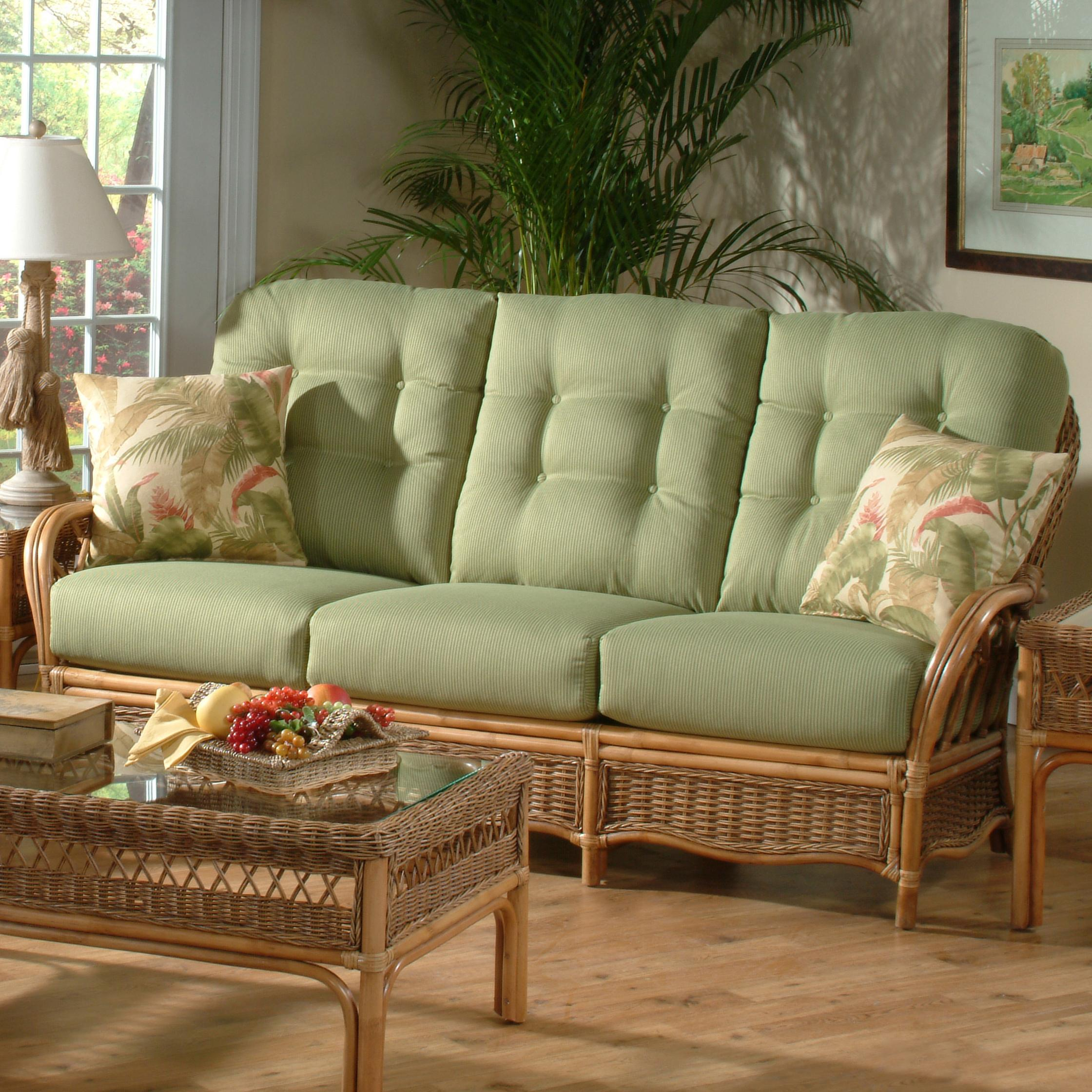 Rattan Sofa Everglade Tropical Rattan Sofa By Braxton Culler At Johnny Janosik