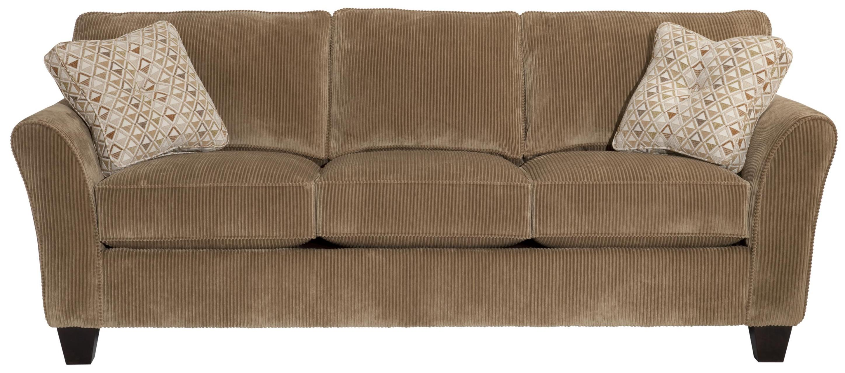 Broyhill Brown Corduroy Sofa Broyhill Express Maddie Quick Ship Sofa With Flared Arms Ahfa
