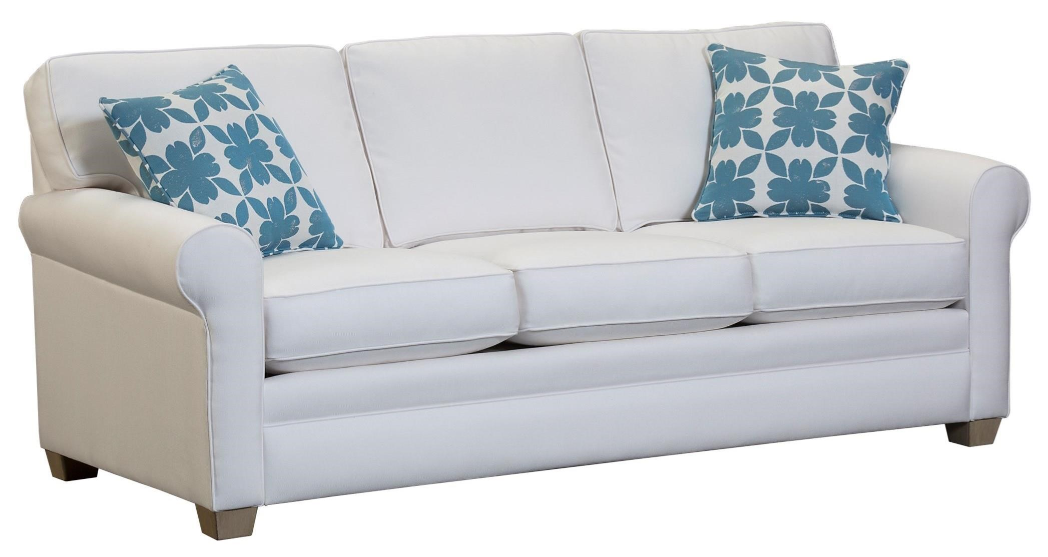 Urban Sofa Nederland Capris Furniture 402 Casual Rolled Arm Sofa Howell Furniture Sofas