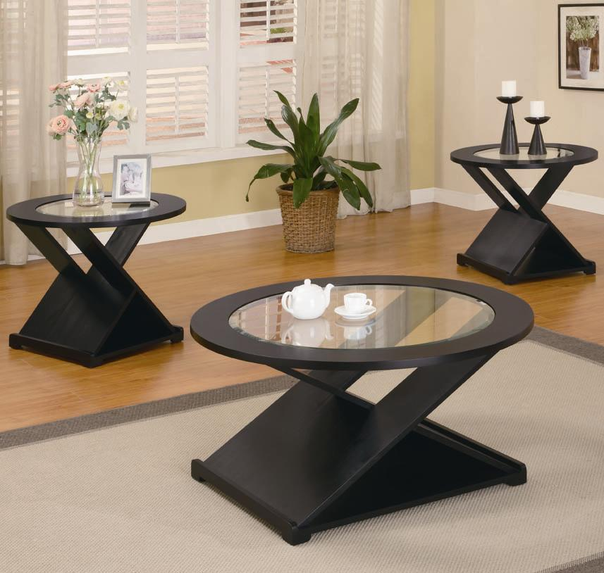 Coaster Occasional Table Sets Contemporary 3 Piece Round - 3 piece living room sets