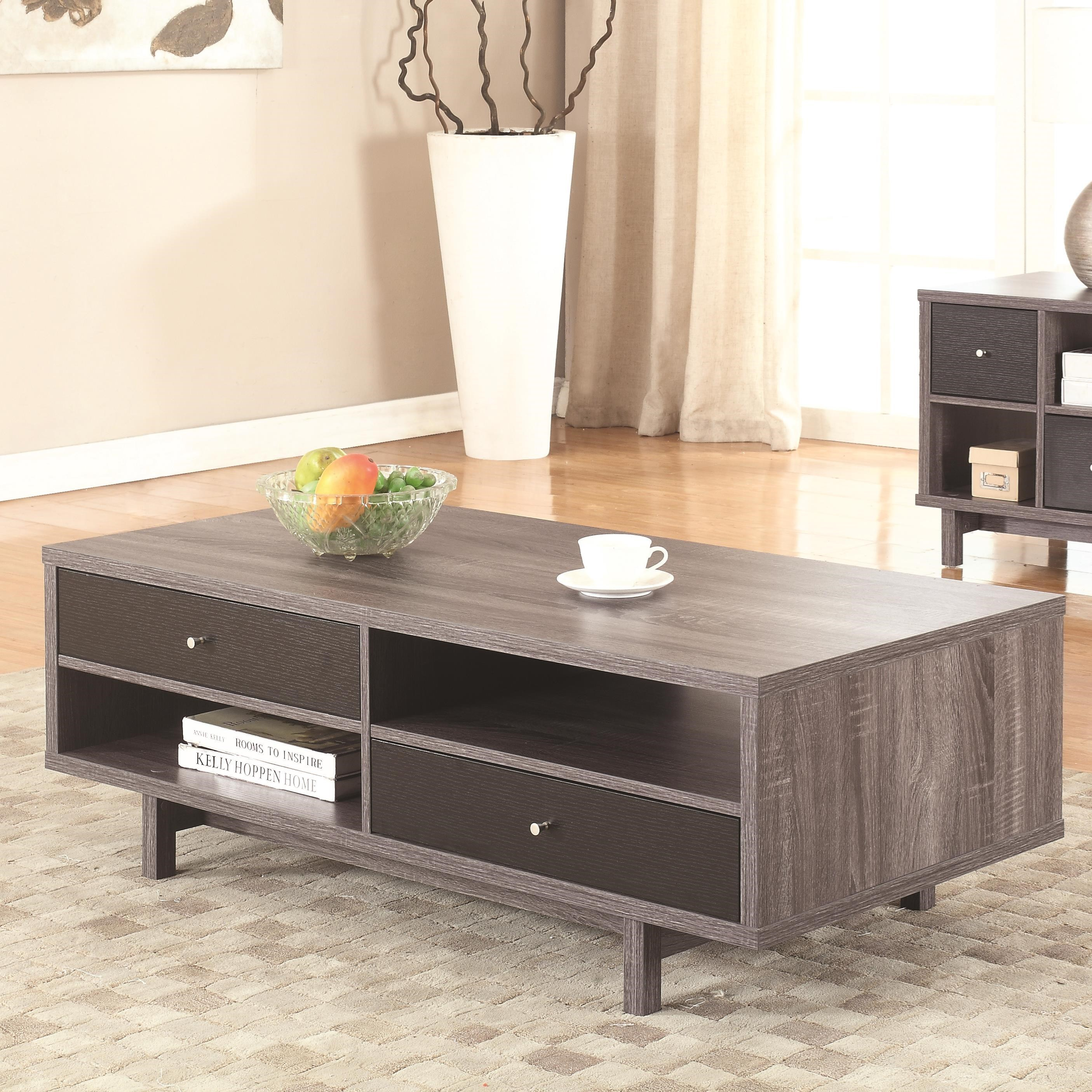 Modern Coffee Table With Storage 70538 Grey Mid Century Modern Coffee Table By Coaster At Value City Furniture