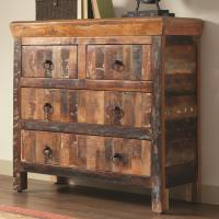 Coaster Accent Cabinets 950366 4 Drawer Reclaimed Wood ...