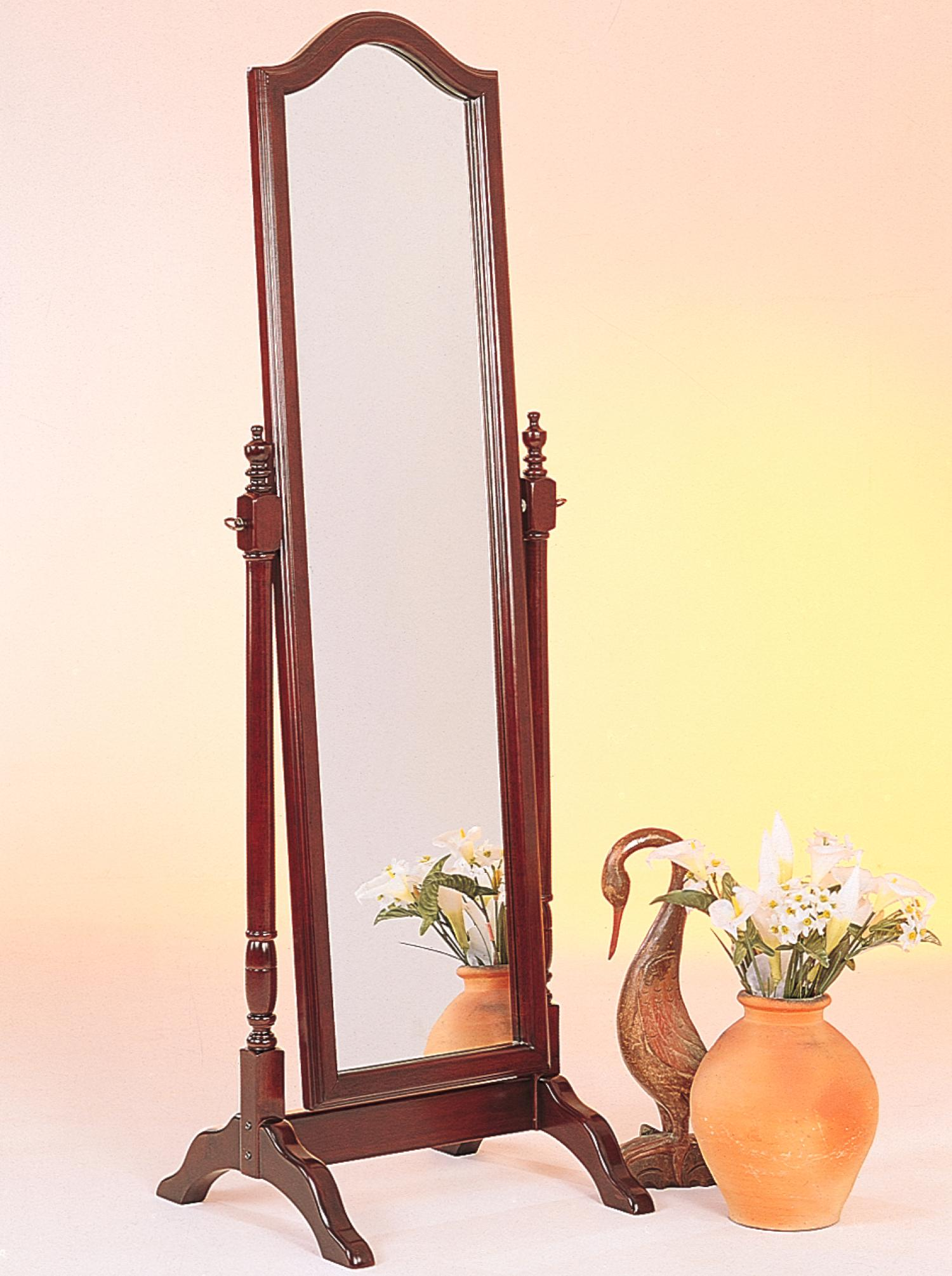 Standing Mirror Accent Mirrors Cheval Mirror With Arched Top By Coaster At Lapeer Furniture Mattress Center