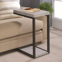 Sofa Snack Table C Shaped Couch Side Slide Under Sofa ...