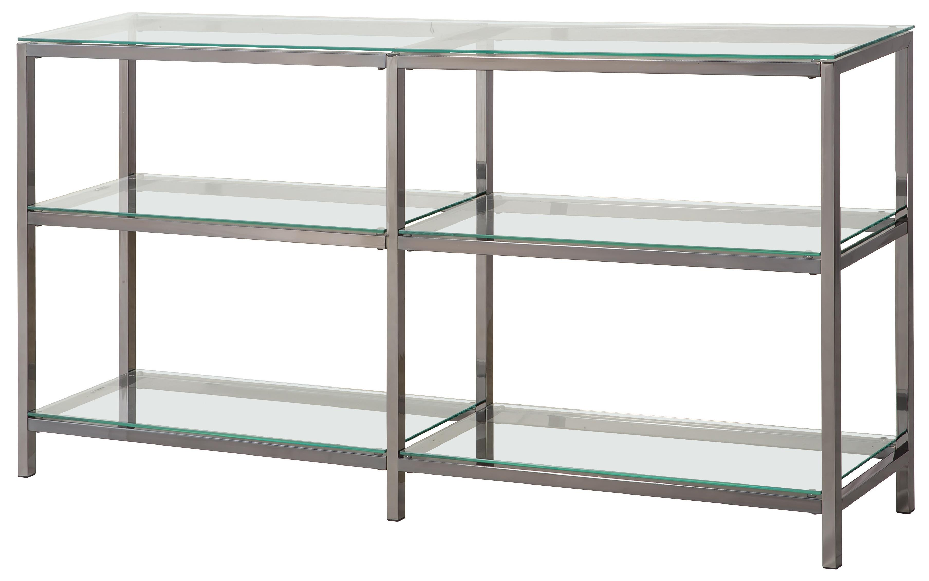 Metal Shelving Bookcases Industrial Metal Bookcase Console With Glass Shelves By Coaster At Value City Furniture