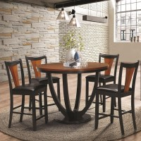 Coaster Boyer Contemporary 5 Piece Counter Height Table ...