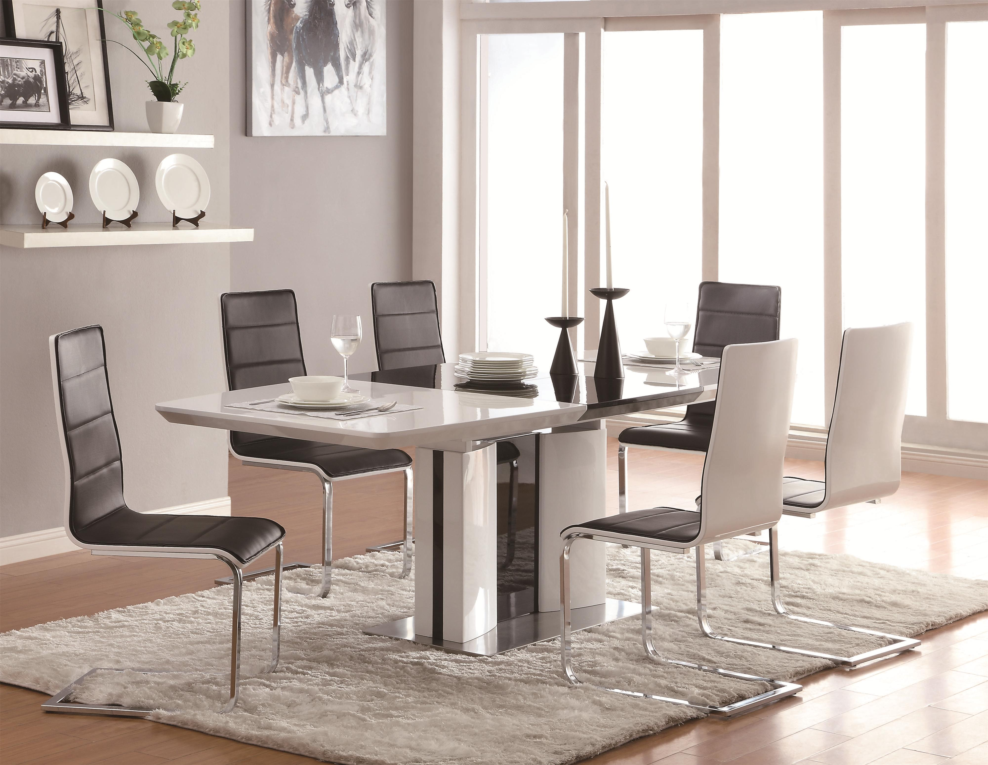 modern kitchen table chairs Coaster Broderick 7 Piece Dining Table Set Item Number
