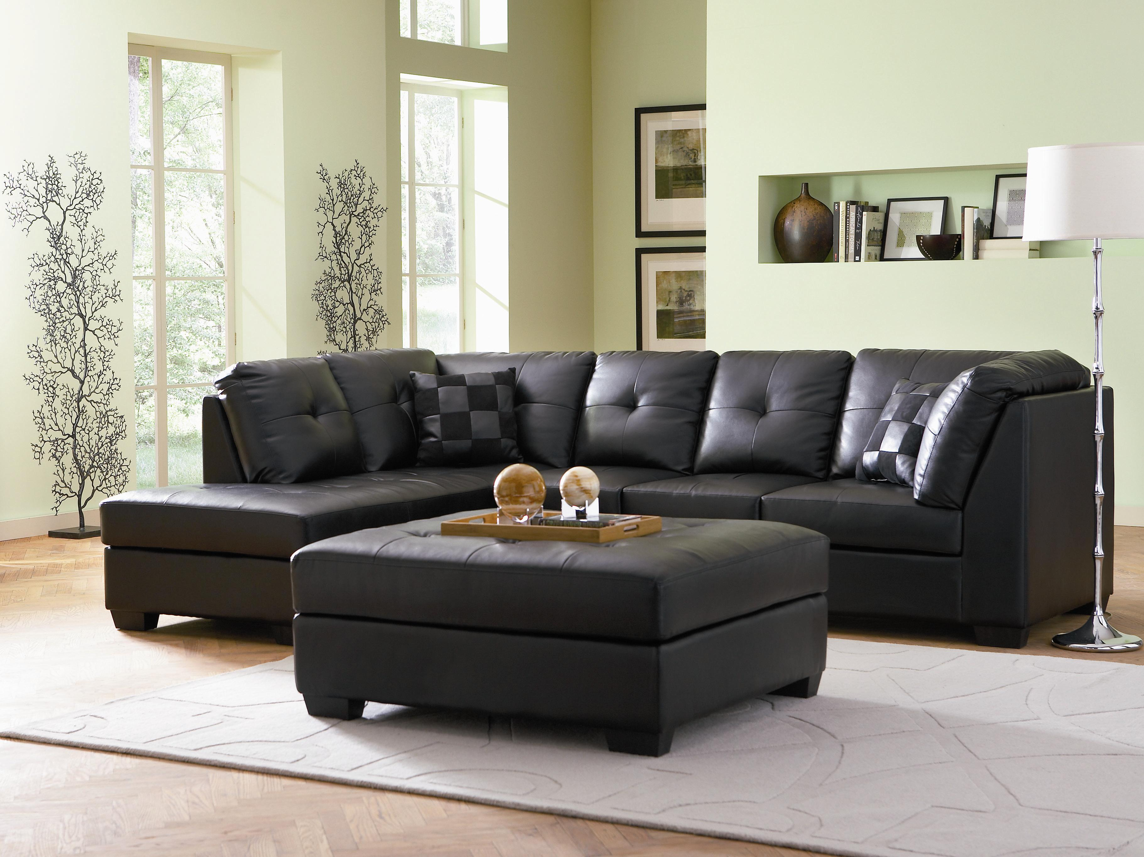 Cheap Sectional Sofa Darie Leather Sectional Sofa With Left Side Chaise By Coaster