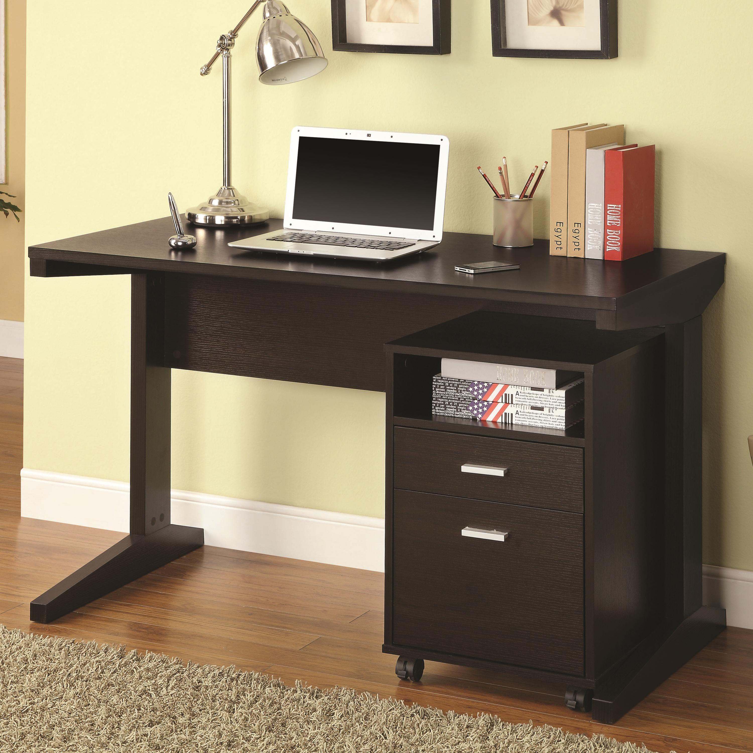 Rolling Filing Cabinets 2 Piece Desk Set With Rolling File Cabinet By Coaster At Value City Furniture