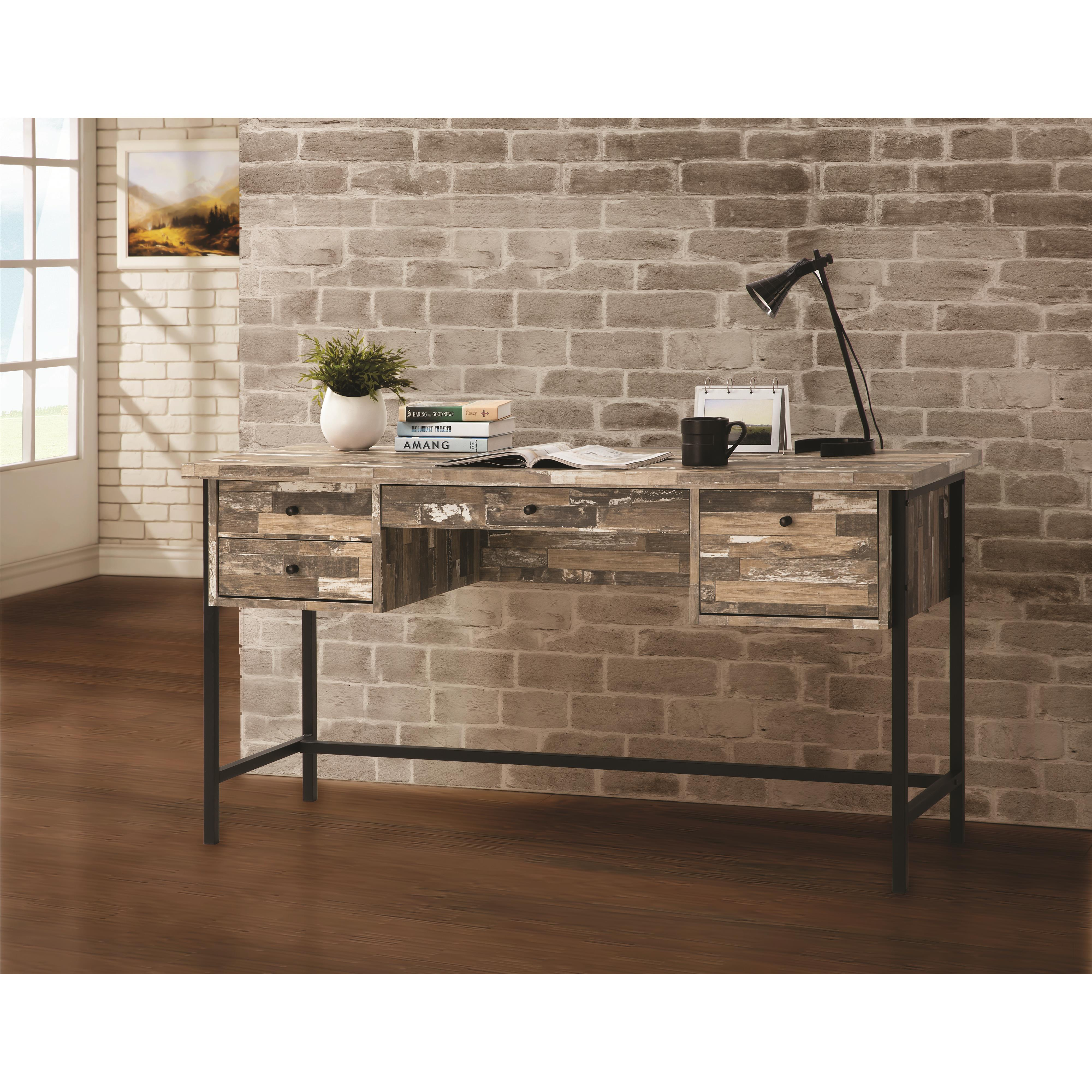 Desks With Drawers Rustic Style Writing Desk With Drawers By Coaster At Sam Levitz Furniture