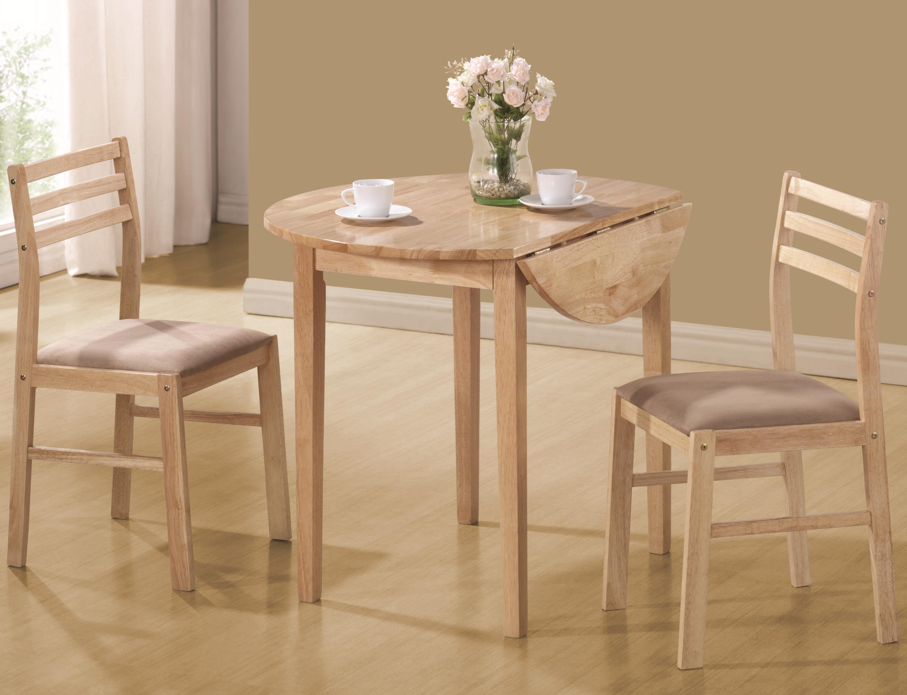 Cheap Kitchen Tables For Small Spaces Dinettes Casual 3 Piece Table Chair Set By Coaster At Dunk Bright Furniture