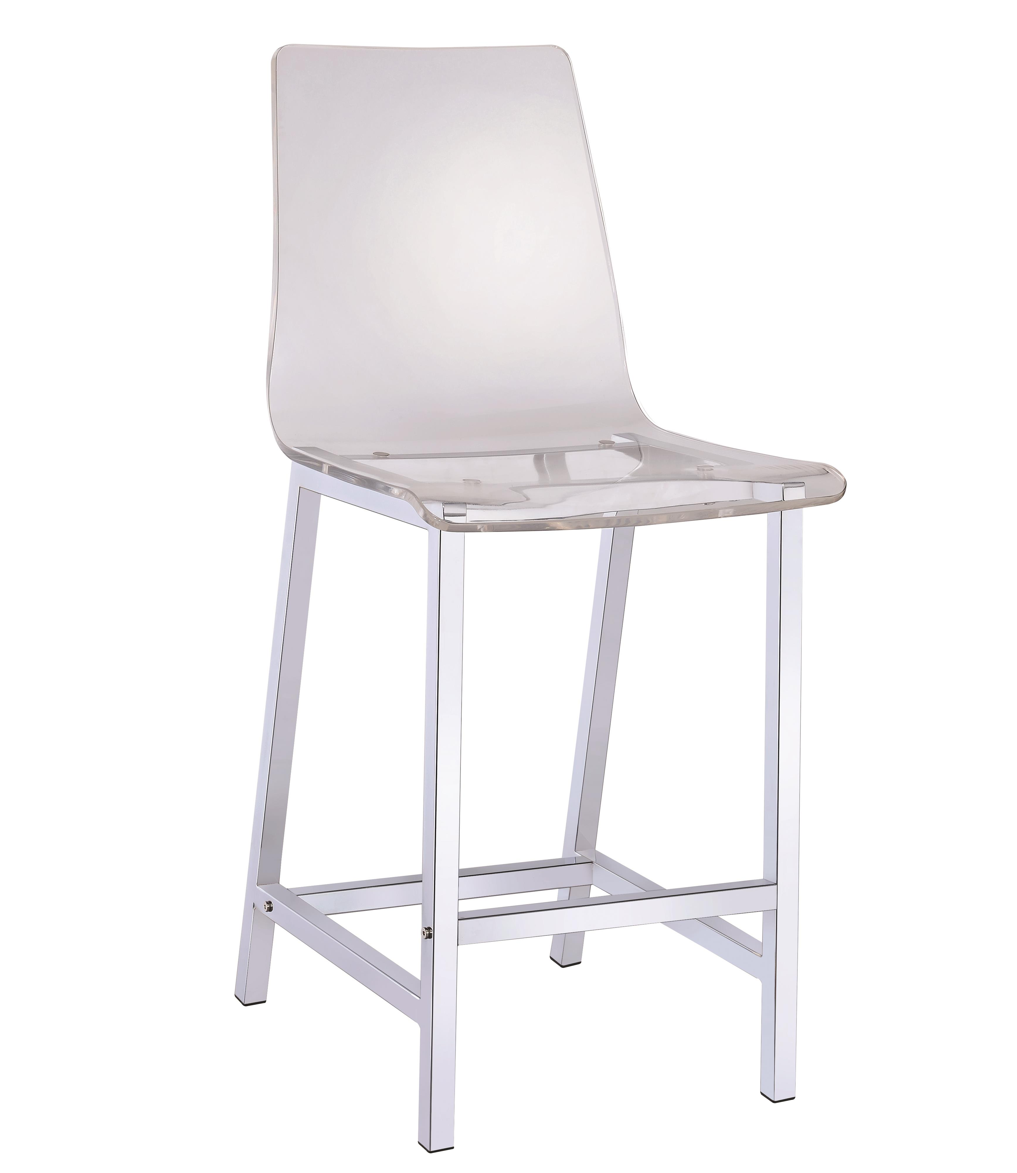 Bar Stool Chairs Dining Chairs And Bar Stools Acrylic Counter Height Stool With Chrome Base By Coaster At Rife S Home Furniture
