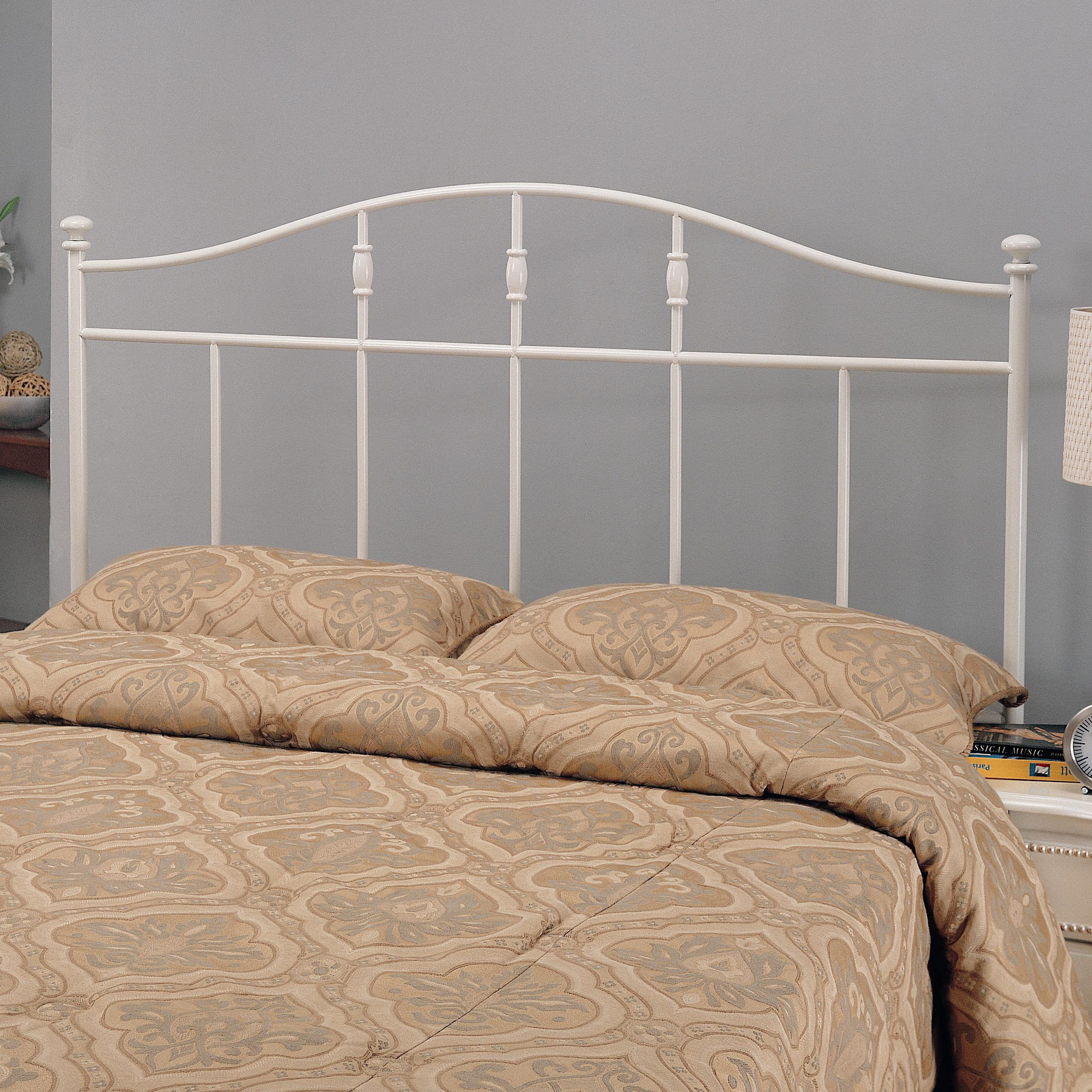 Bed Headboard Iron Beds And Headboards Full Queen Cottage White Metal Headboard By Coaster At Dunk Bright Furniture