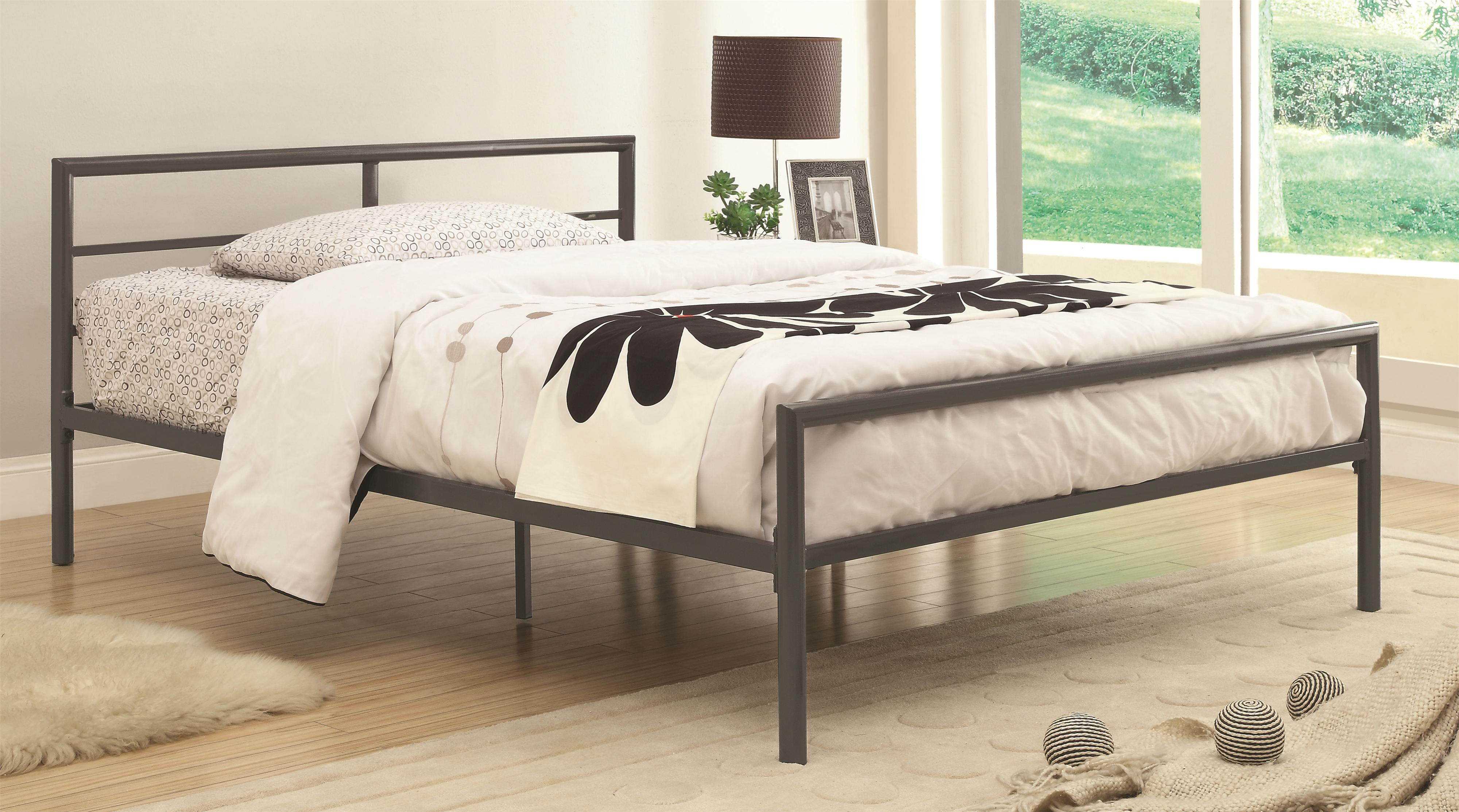 Metal Bed Headboards Iron Beds And Headboards Fisher Twin Bed With Sleek Lines By Coaster At Value City Furniture