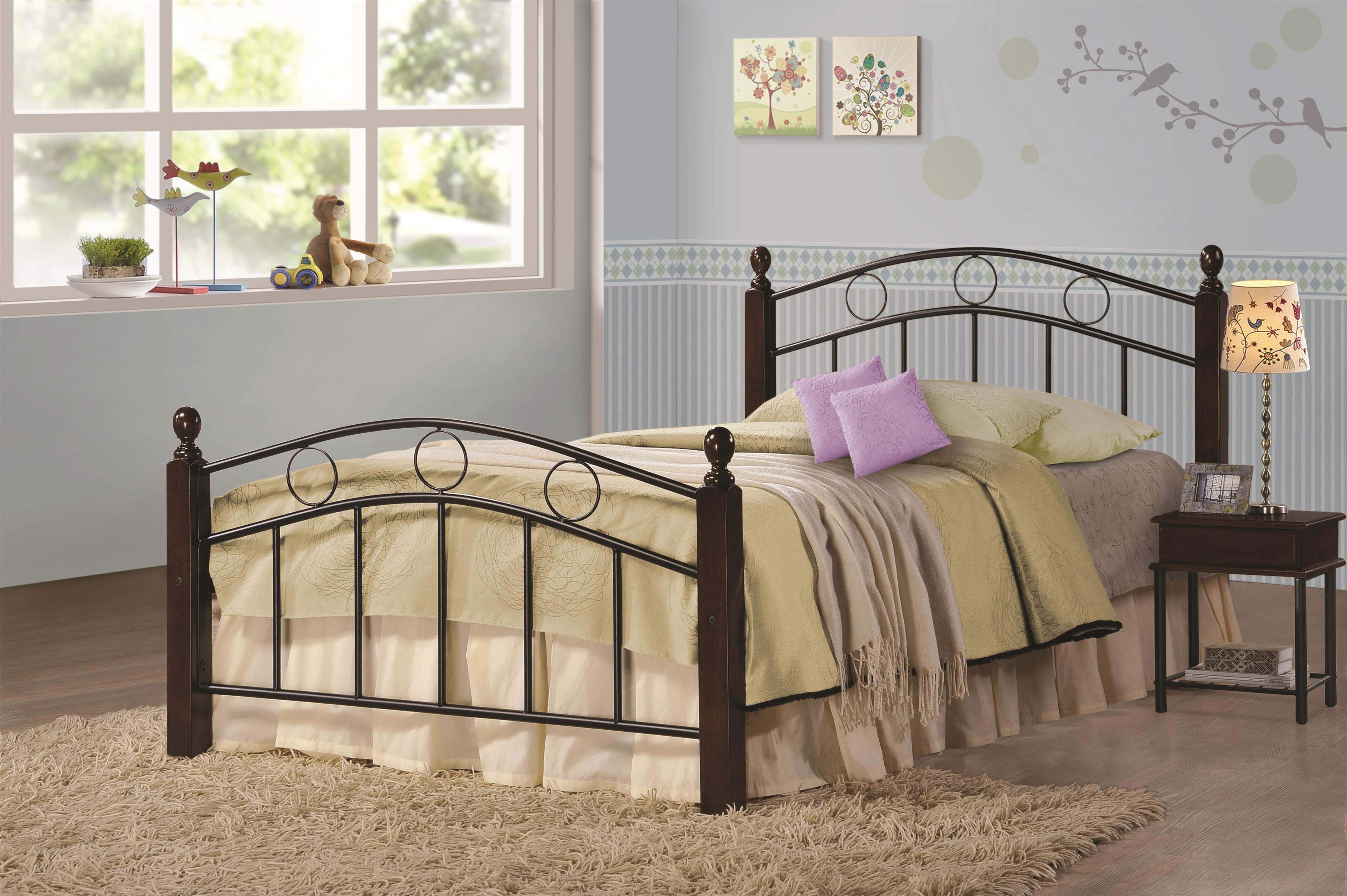 Metal Bed Headboards Iron Beds And Headboards Twin Kyan Metal Bed By Coaster At Value City Furniture