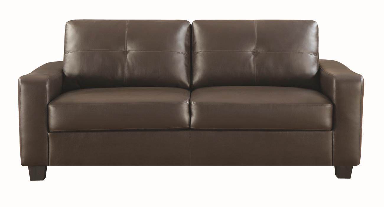 Big Sofa Back Cushions Jasmine Bonded Leather Sofa By Coaster At Value City Furniture