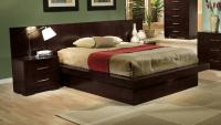 Coaster Jessica King Pier Platform Bed with Rail Seating ...