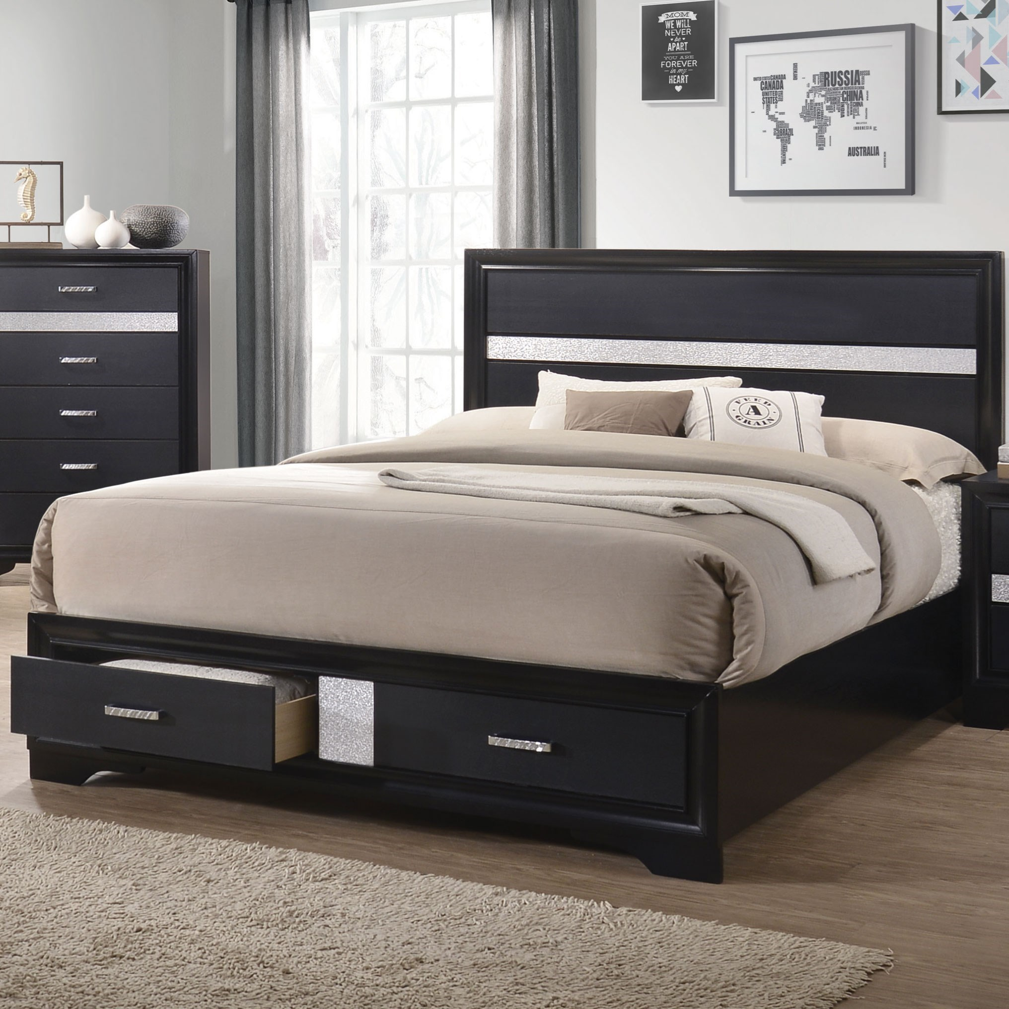 Storage Beds Australia Miranda Queen Storage Bed With 2 Dovetail Drawers By Coaster At Dunk Bright Furniture