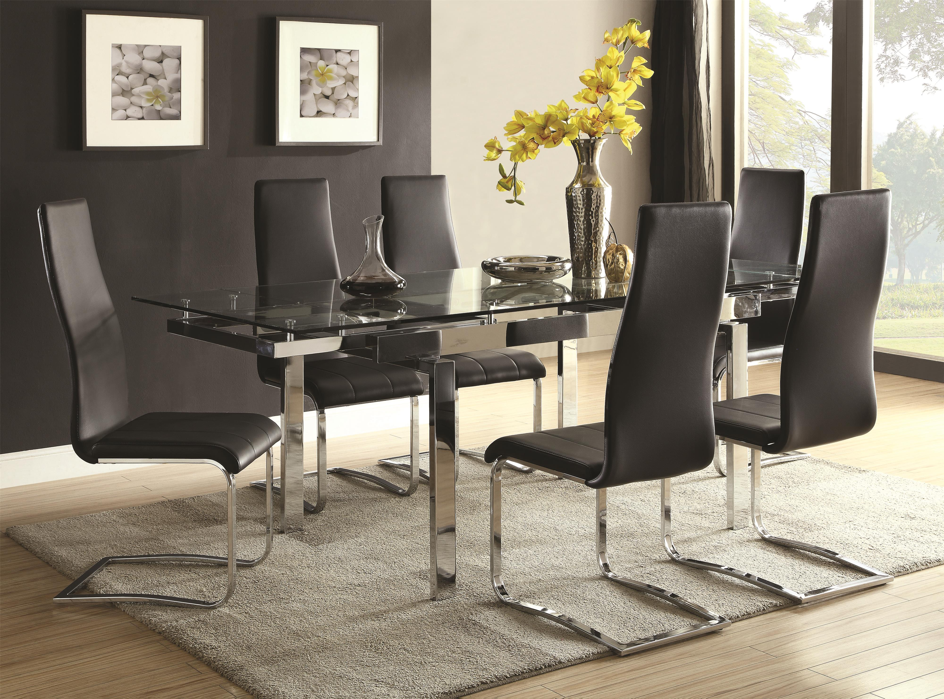 Dining Room Furniture Glass Fine Furniture Modern Dining Contemporary Dining Room Set