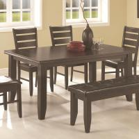 Coaster Page Contemporary Rectangular Semi-Formal Dining ...
