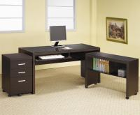 Coaster Skylar L Shape Computer Desk with Storage | Dunk ...