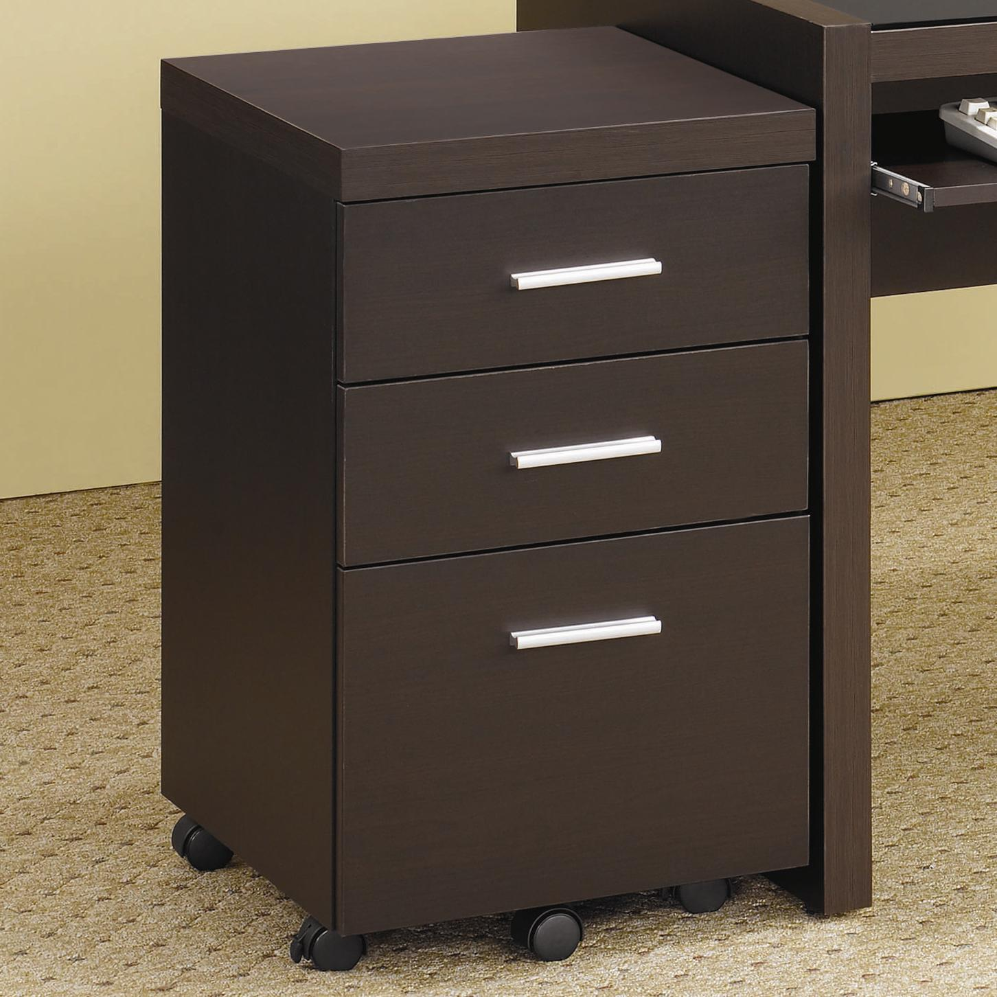 Desk With File Cabinet Skylar File Cabinet With 3 Drawers By Coaster At Michael S Furniture Warehouse
