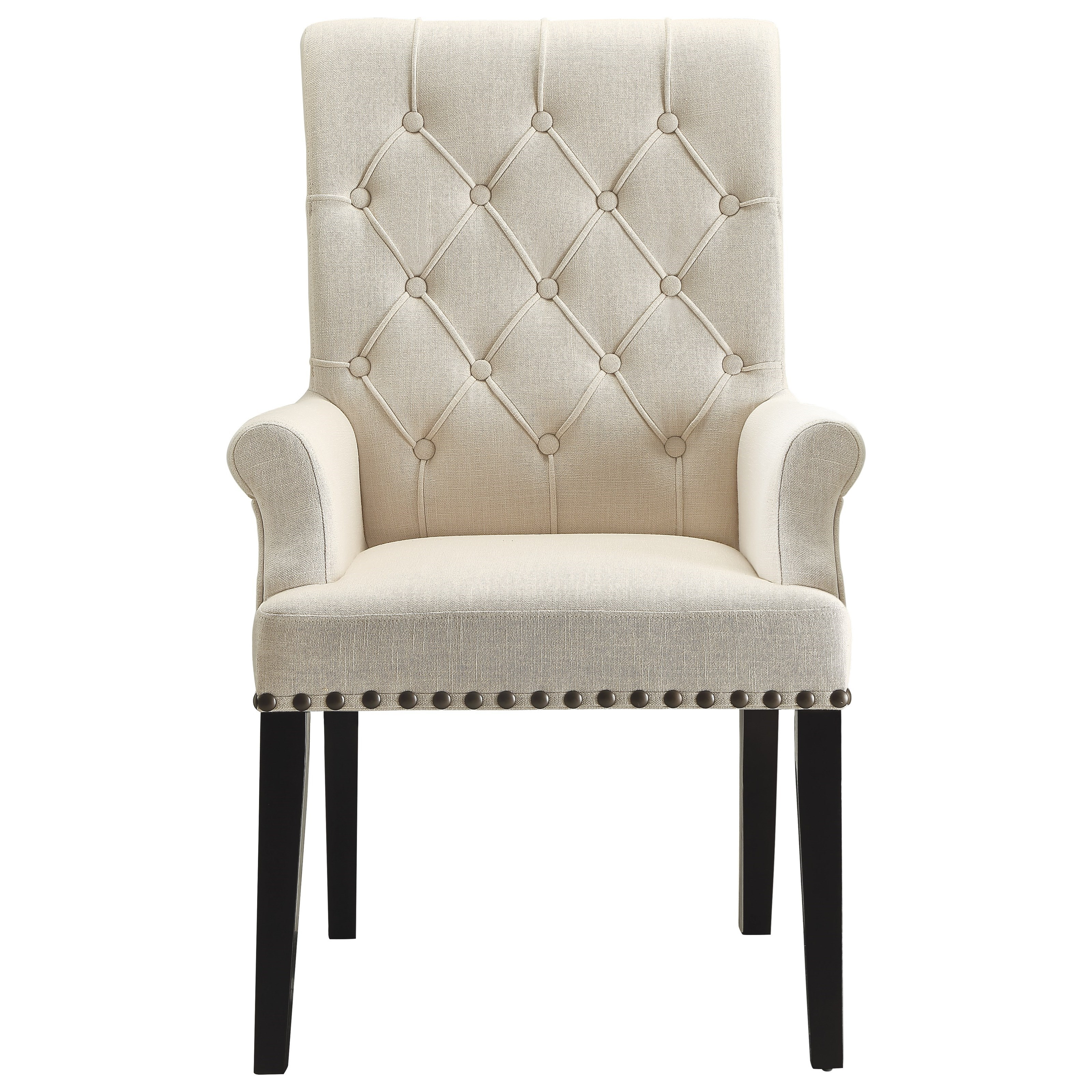 Arm Chairs Parkins Upholstered Dining Arm Chair By Coaster At Value City Furniture