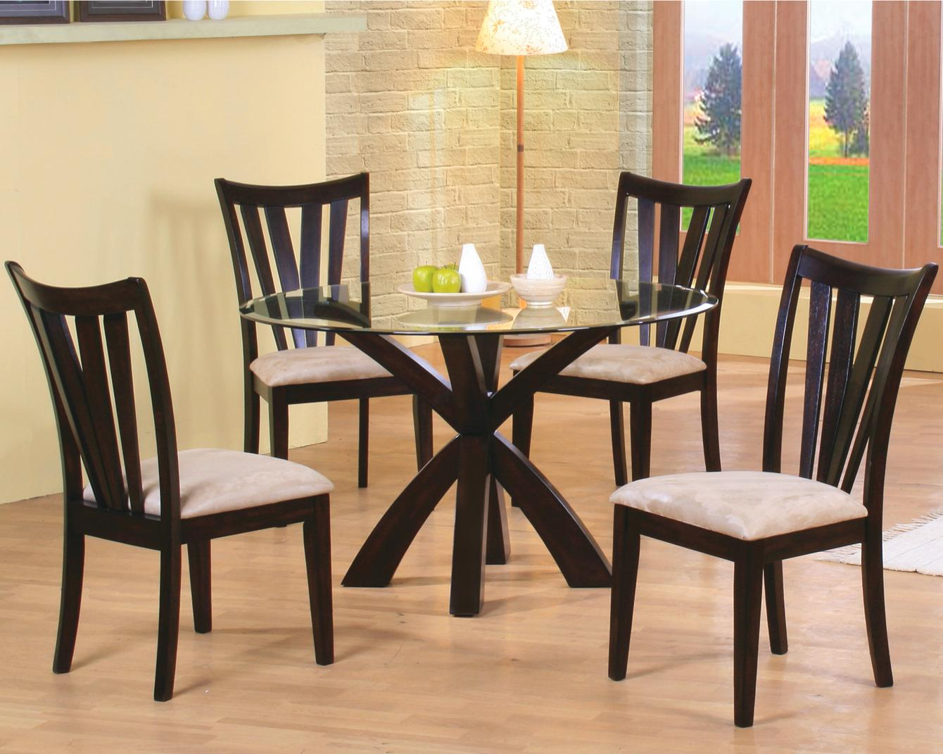 Glass Dining Table And Chairs Shoemaker 5 Piece Dining Set By Coaster At Michael S Furniture Warehouse