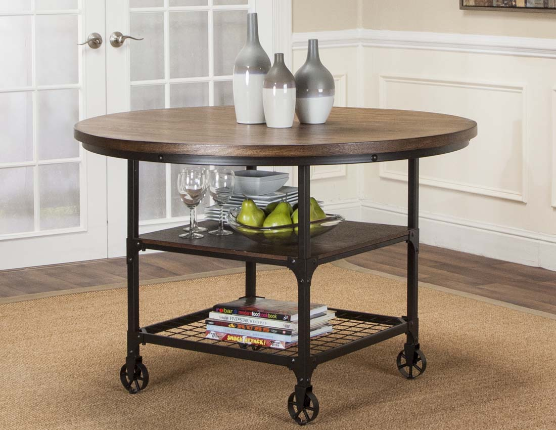 Dining Room Furniture Rustic Craft Round Rustic Dining Table With Storage By Cramco Inc At Value City Furniture