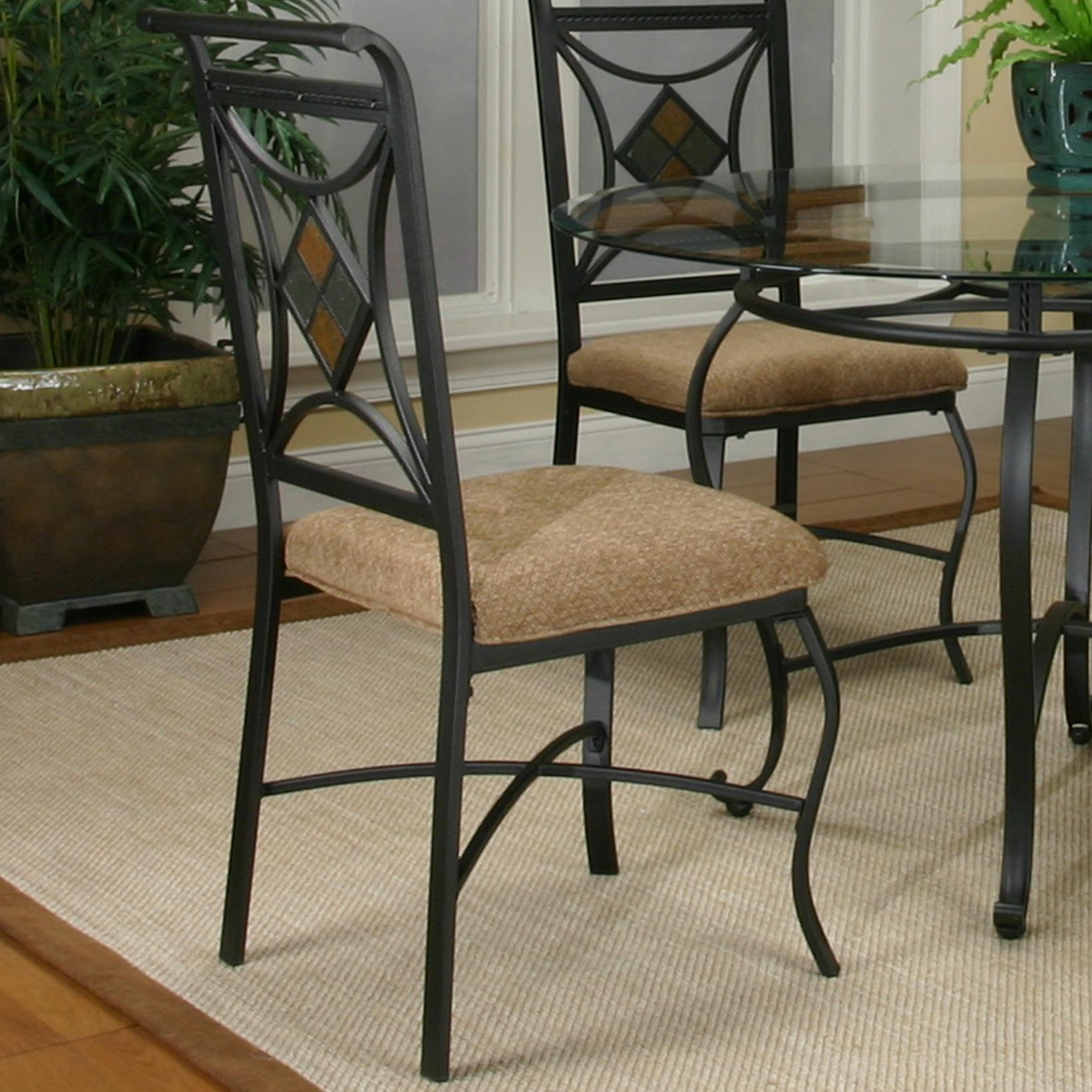Cramco Inc Cramco Trading Company Glendale W2195 01 Metal Side Chair W Upholstered Seat Corner Furniture Dining Side Chair
