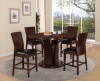 Crown Mark Daria Round Pub Height Dining Table and Stool ...