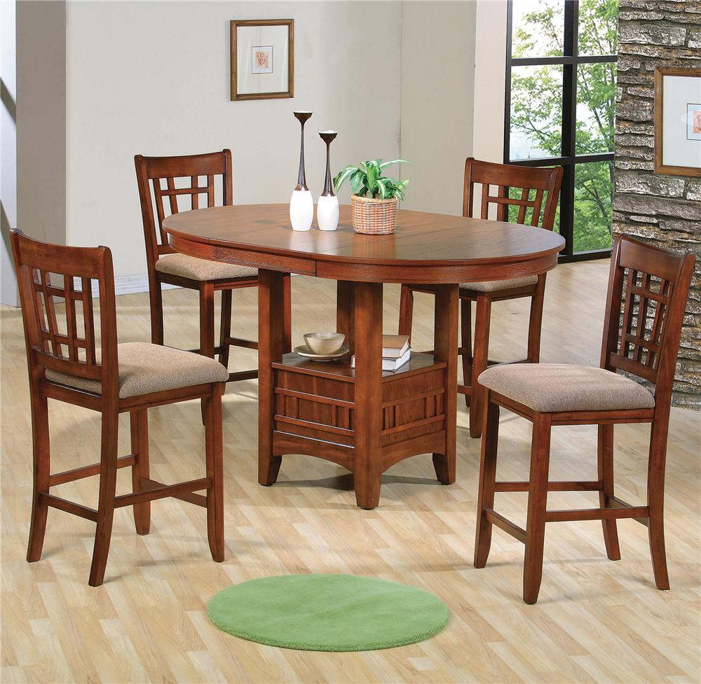 counter height kitchen chairs Crown Mark Empire Counter Height Dining Table and Chair Set Item Number
