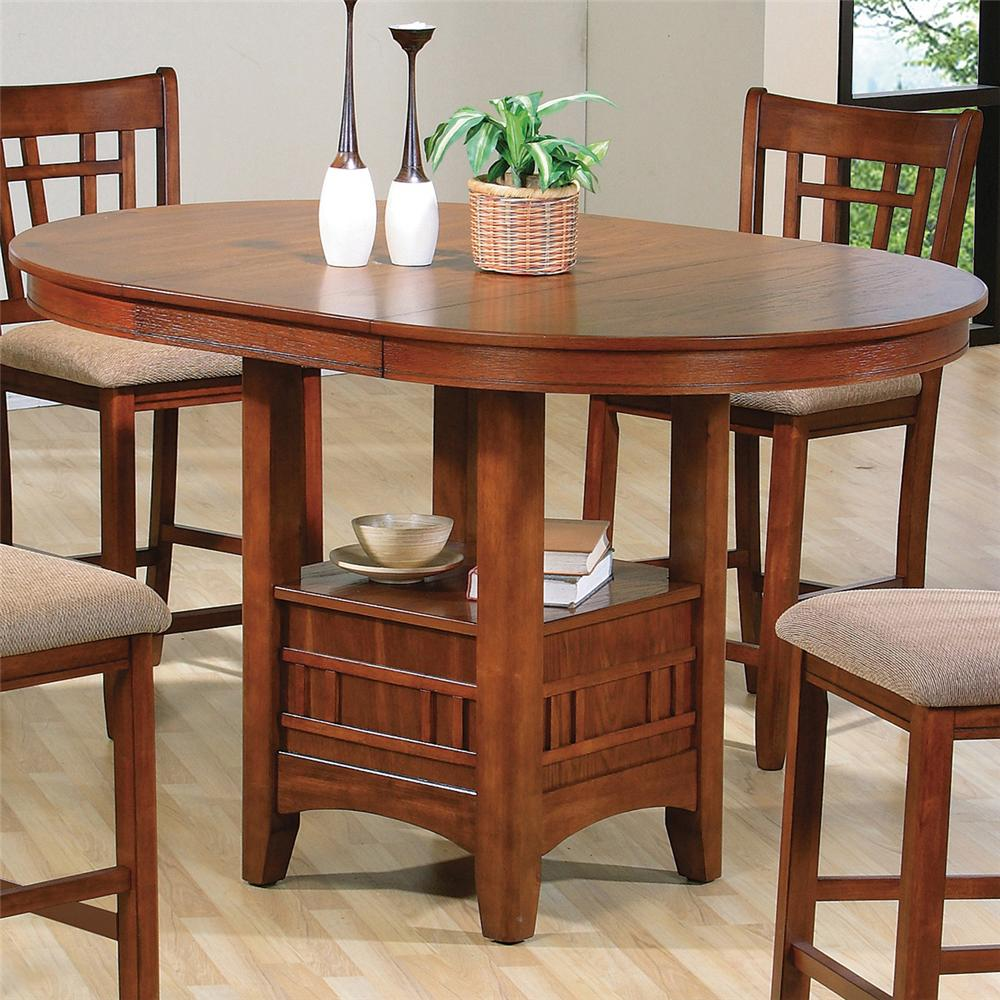 bar top kitchen tables Crown Mark Empire Counter Height Dining Table Item Number OAK LEG