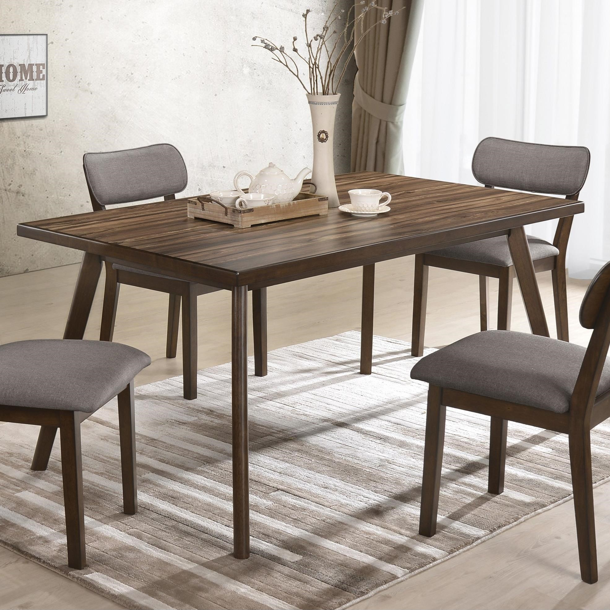 Modern Dining Room Furniture Gina Mid Century Modern Dining Table With Angled Legs By Crown Mark At Royal Furniture