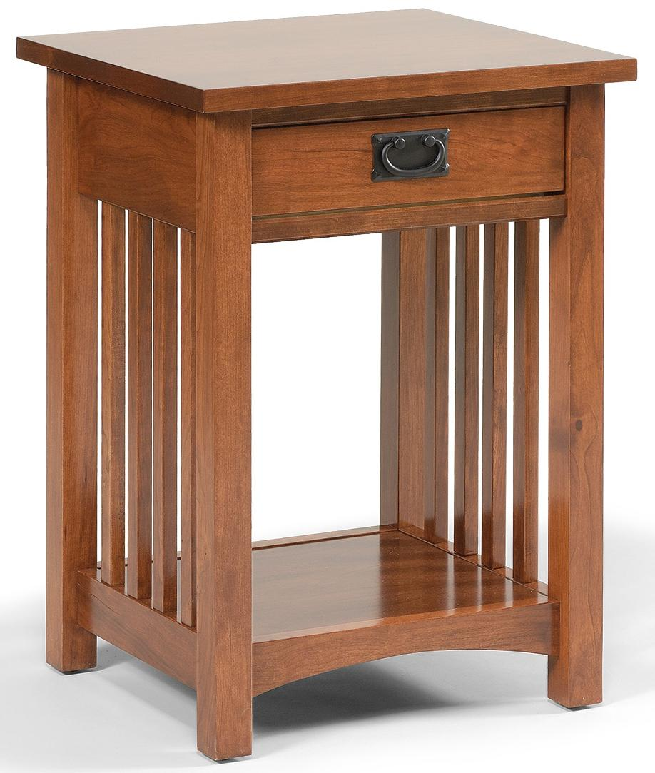 Daniel S Amish Mission 1 Drawer Mission Style Open Nightstand With 1 Shelf Belfort Furniture Nightstands