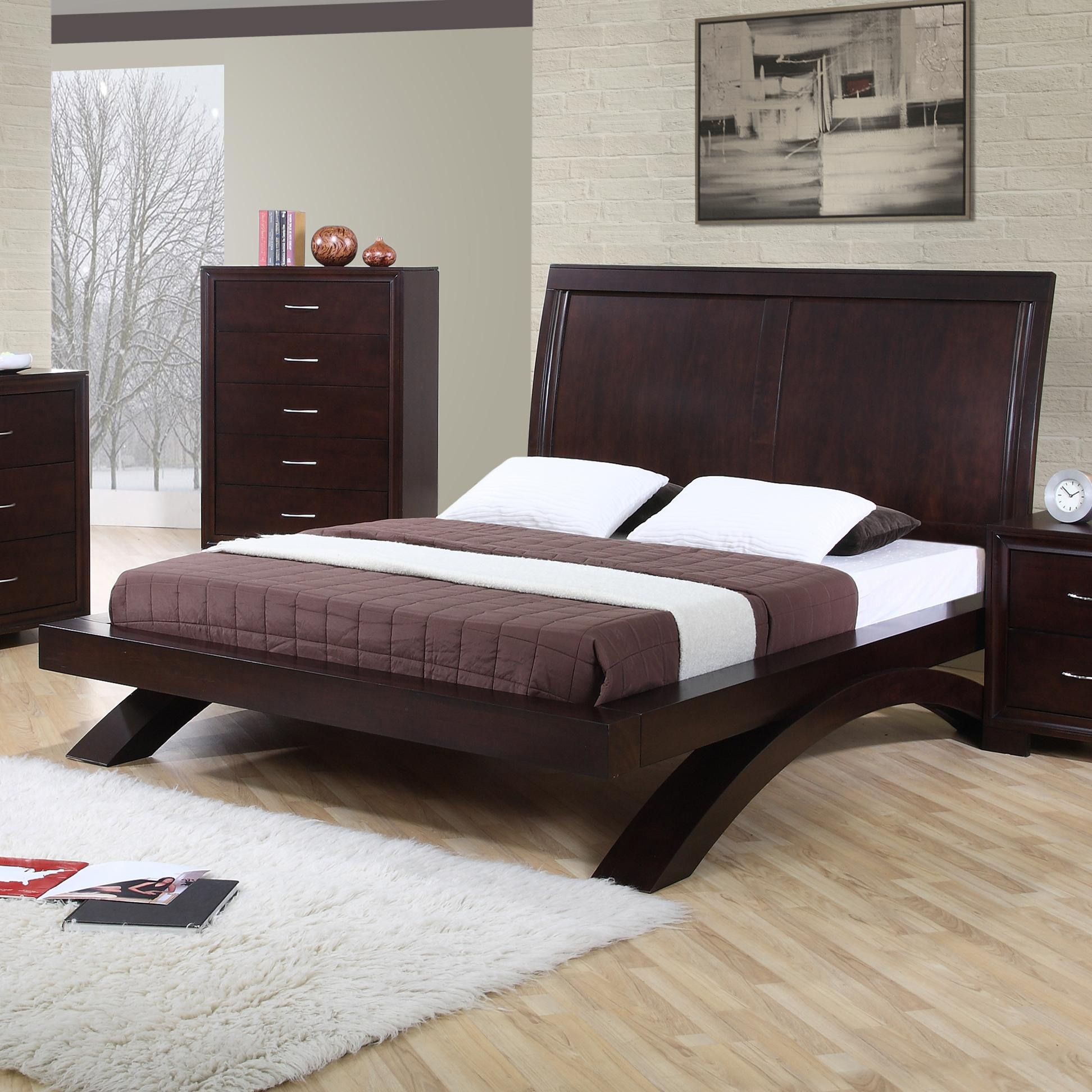Beds And Beds Raven King Contemporary Platform Bed By Elements International At Becker Furniture World