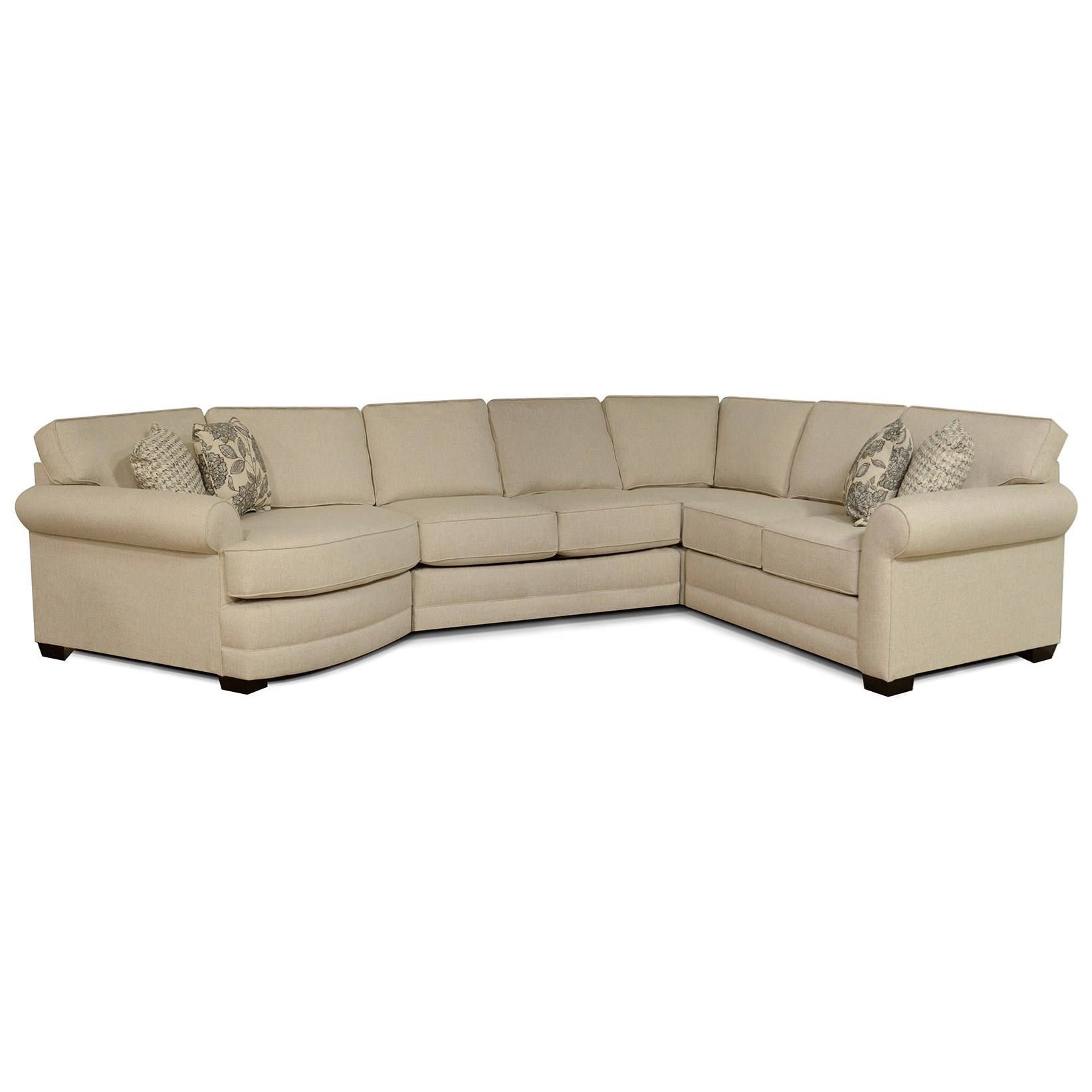 England Brantley 5630 94 43 22 27 Grande Linen Casual 4 Piece Sectional With Cuddler Furniture And Appliancemart Sectional Sofas