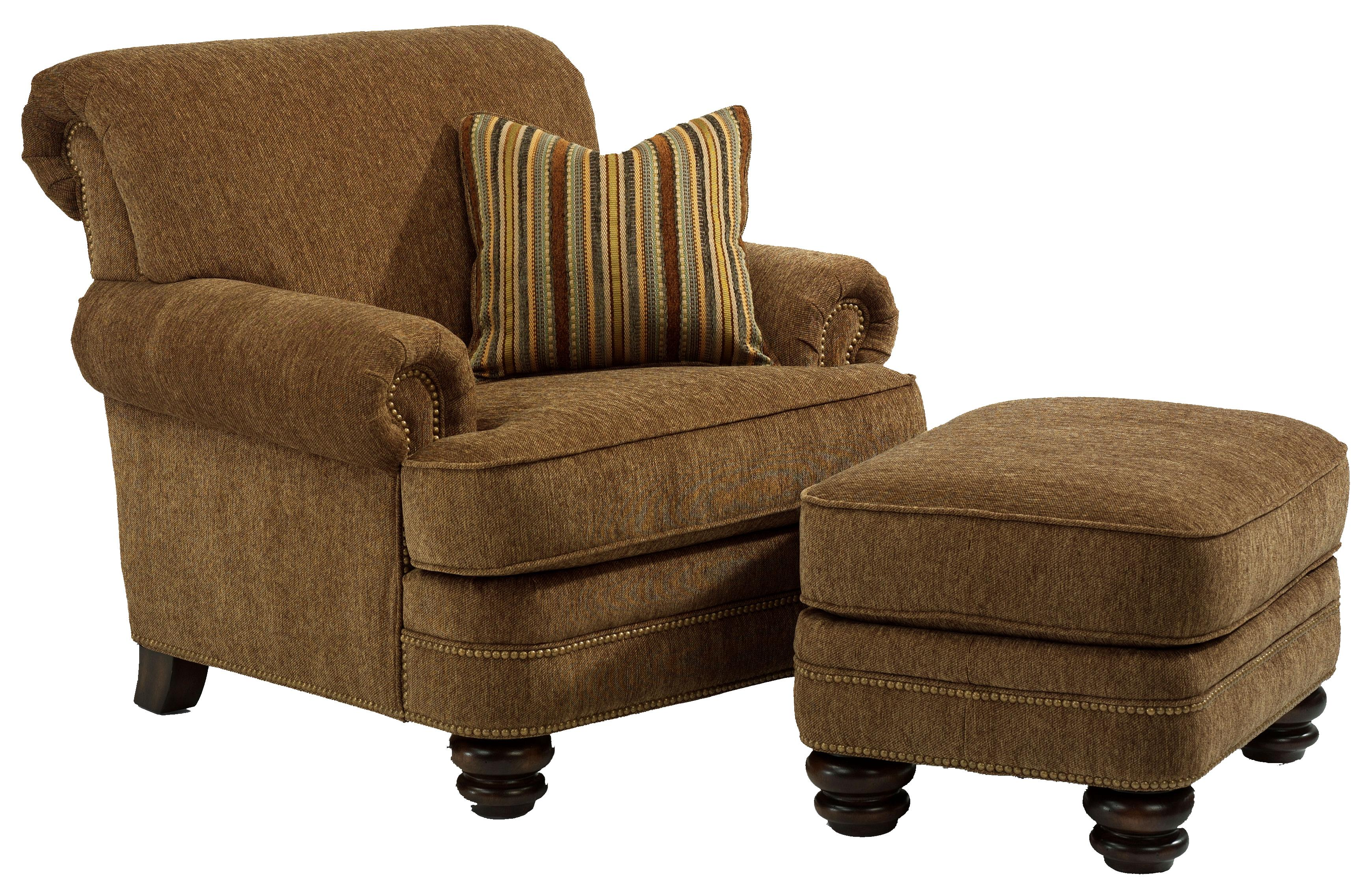 Chair Ottoman Fremont Traditional Rolled Back Chair Ottoman Set By Flexsteel At Crowley Furniture Mattress