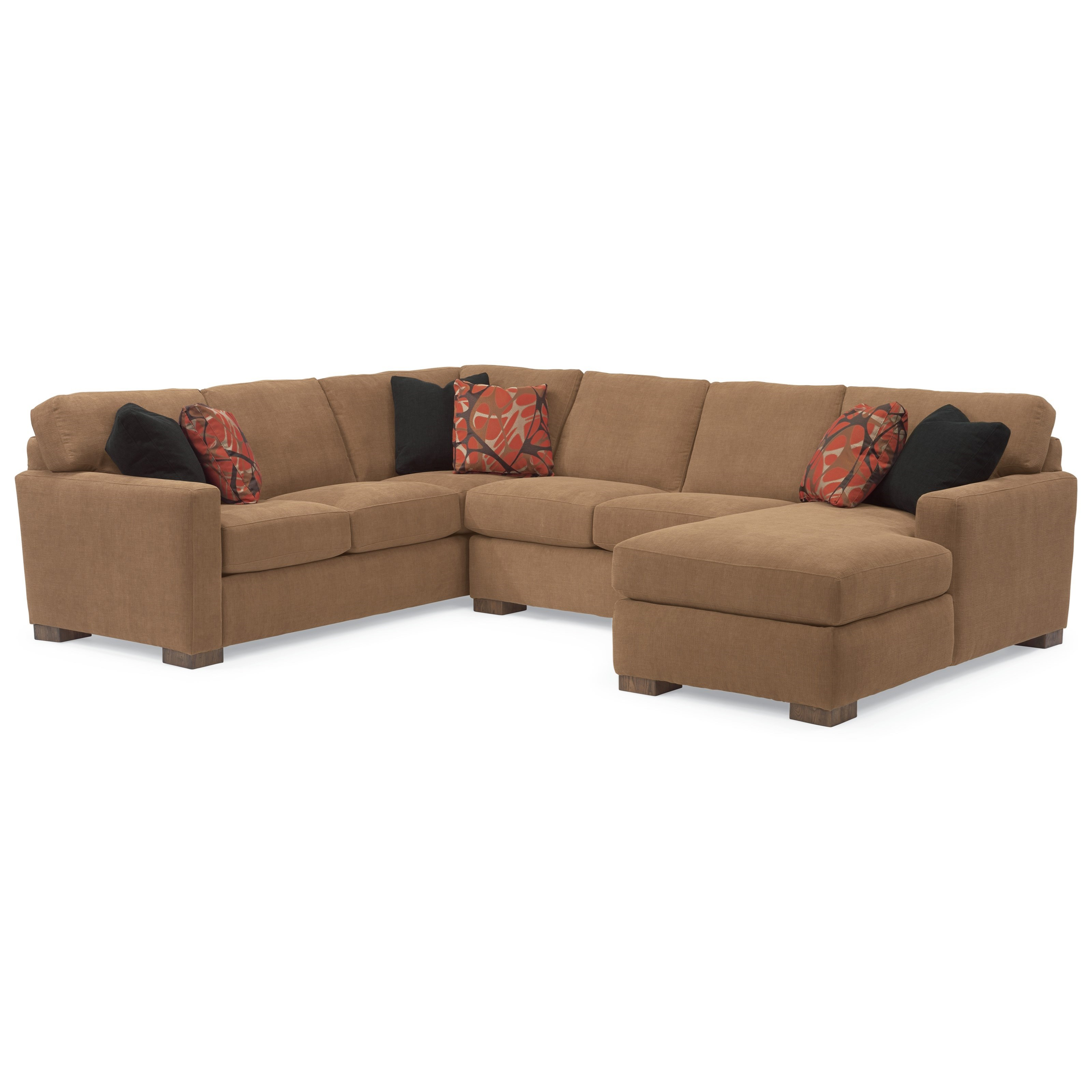 Flexsteel Bryant Contemporary Sectional Sofa With 3 Modular Pieces Conlin S Furniture Sectional Sofas