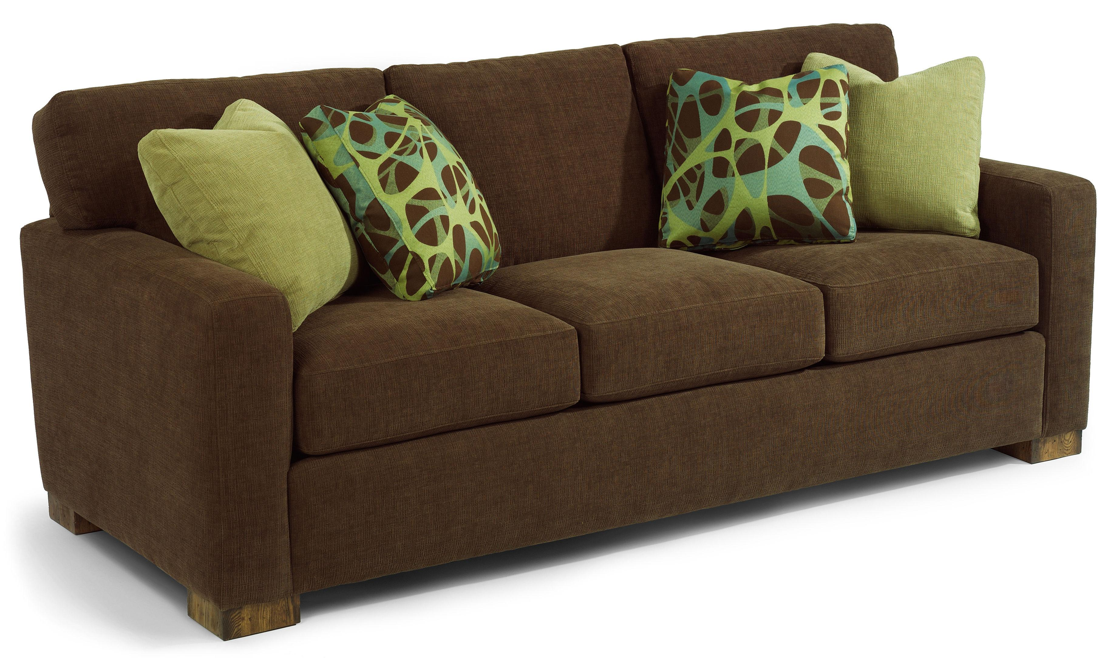 Contemporary Couch Bryant Contemporary Sofa With Track Arms By Flexsteel At Suburban Furniture