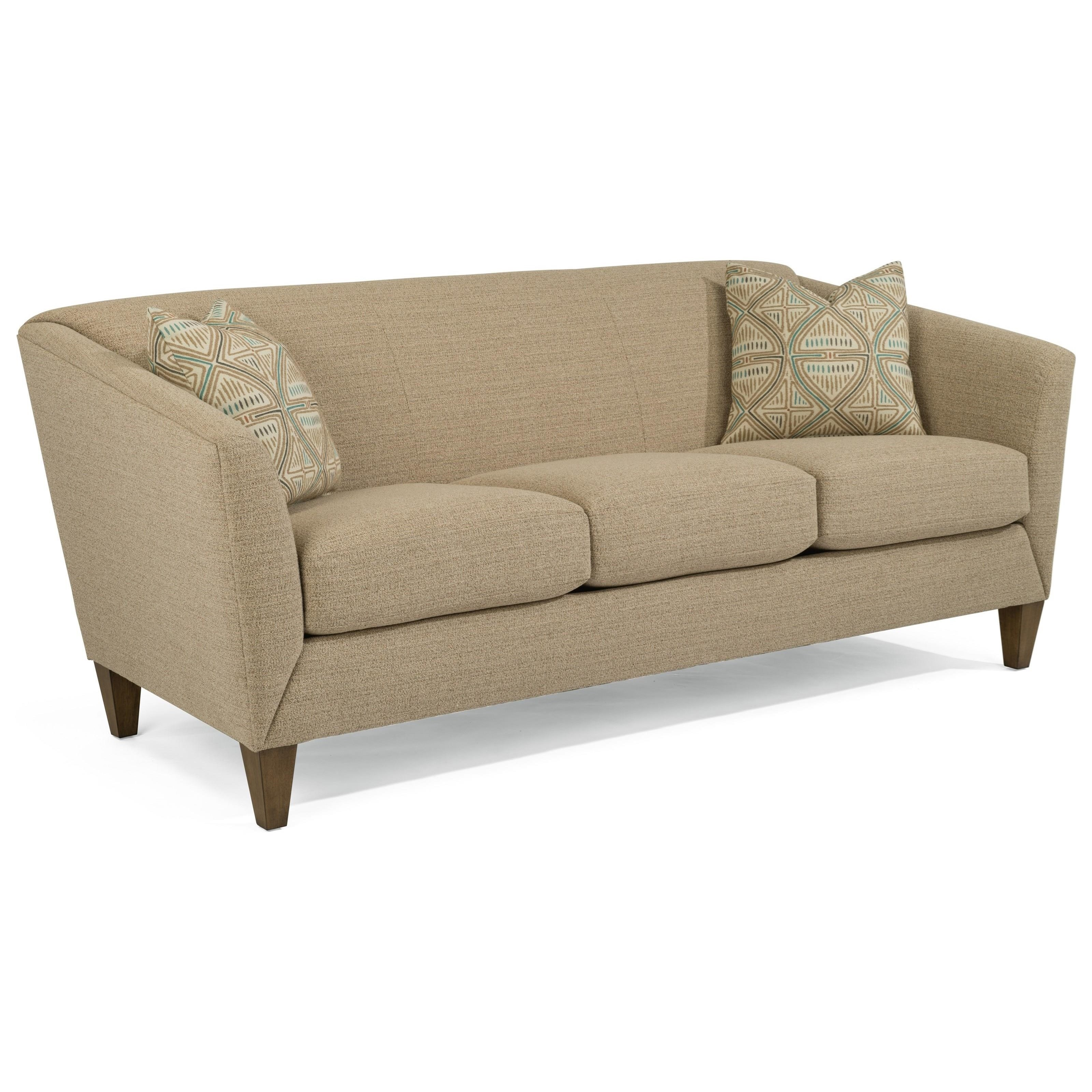 Urban Sofa Nederland Flexsteel Emery Transitional Sofa With Flare Tapered Arms Howell